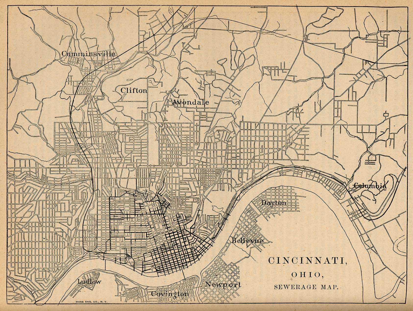 United States Historical City Maps PerryCastañeda Map - 1830 census map us