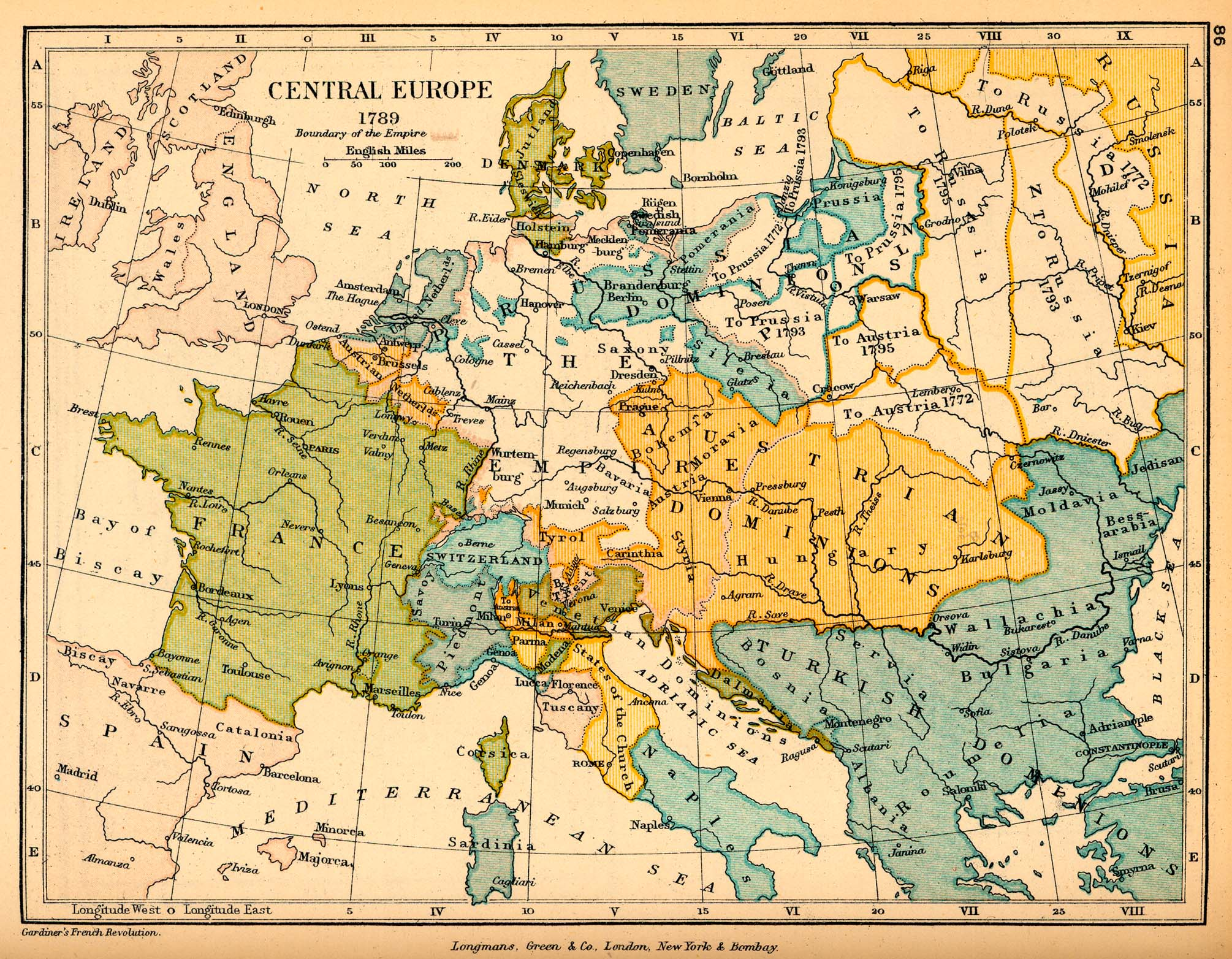 central europe in 1789