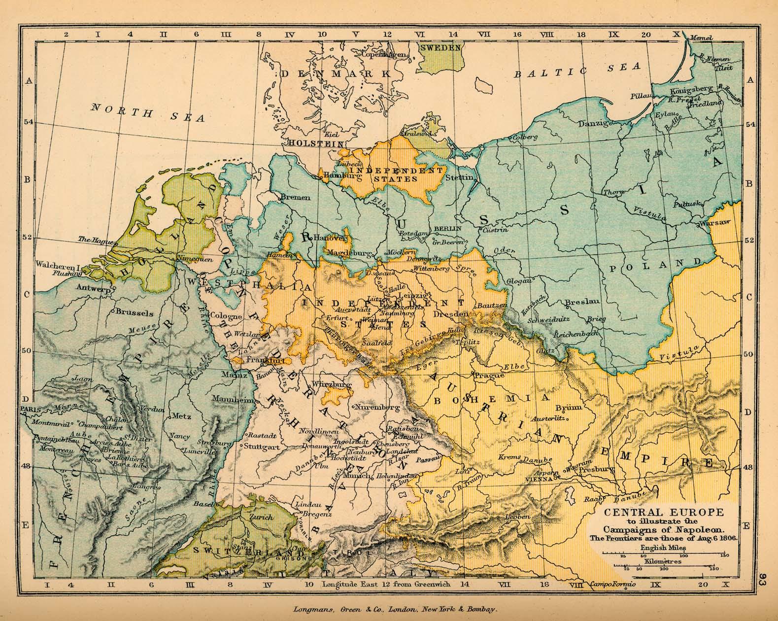 Public Schools Historical Atlas By C Colbeck PerryCastañeda - Map of us 1806