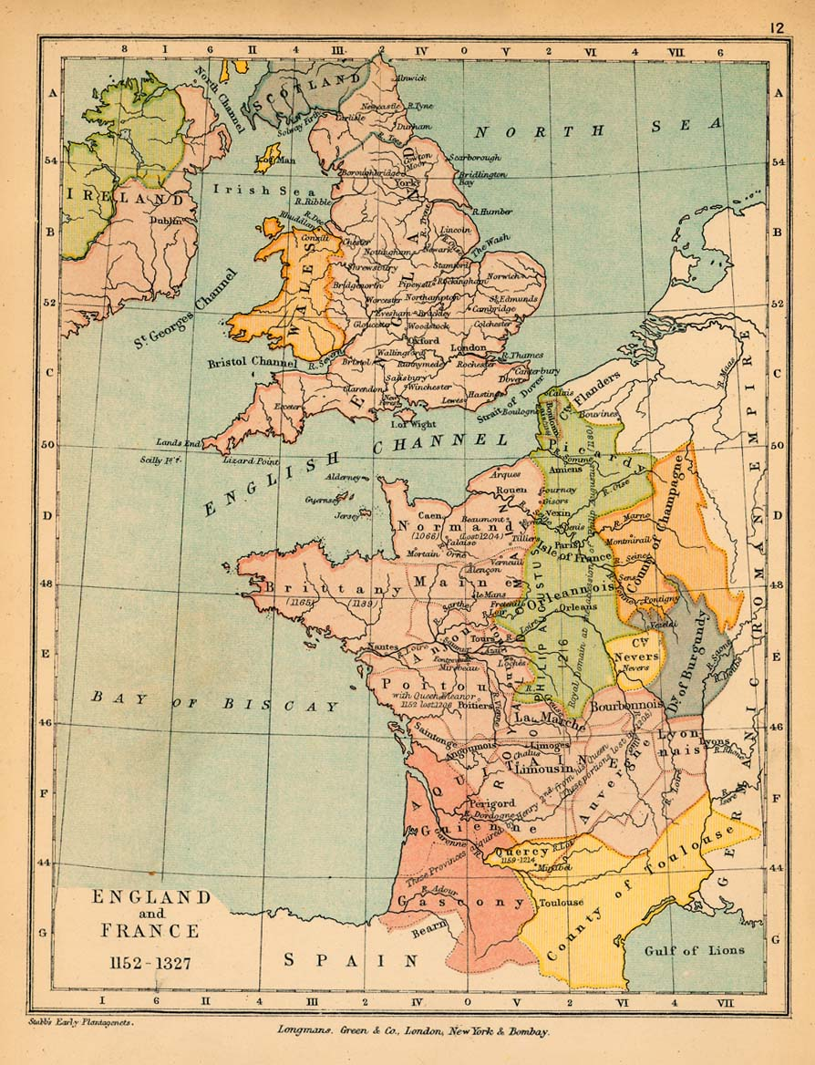 United kingdom maps perry castaeda map collection ut library online england and france 1152 1327 gumiabroncs Image collections