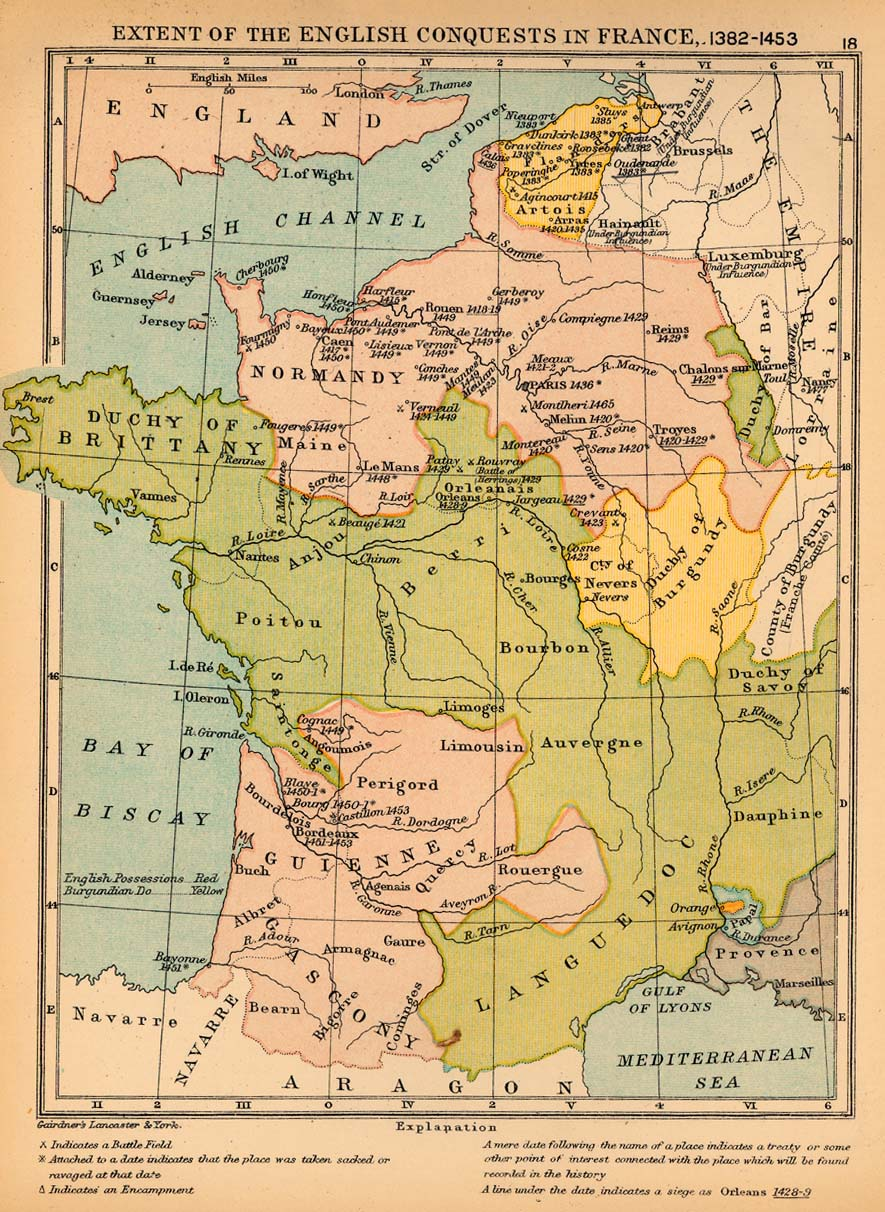 Map Of France In English.Public Schools Historical Atlas By C Colbeck Perry Castaneda Map