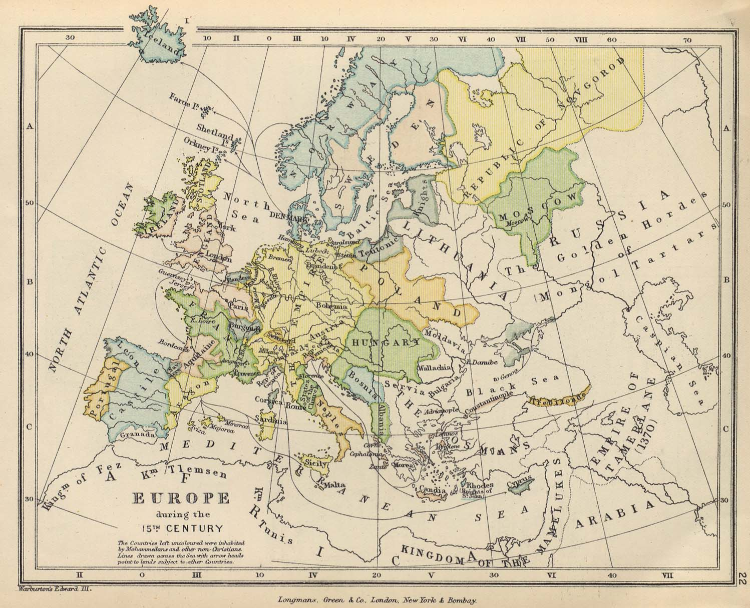 map 21 europe in the 15th century