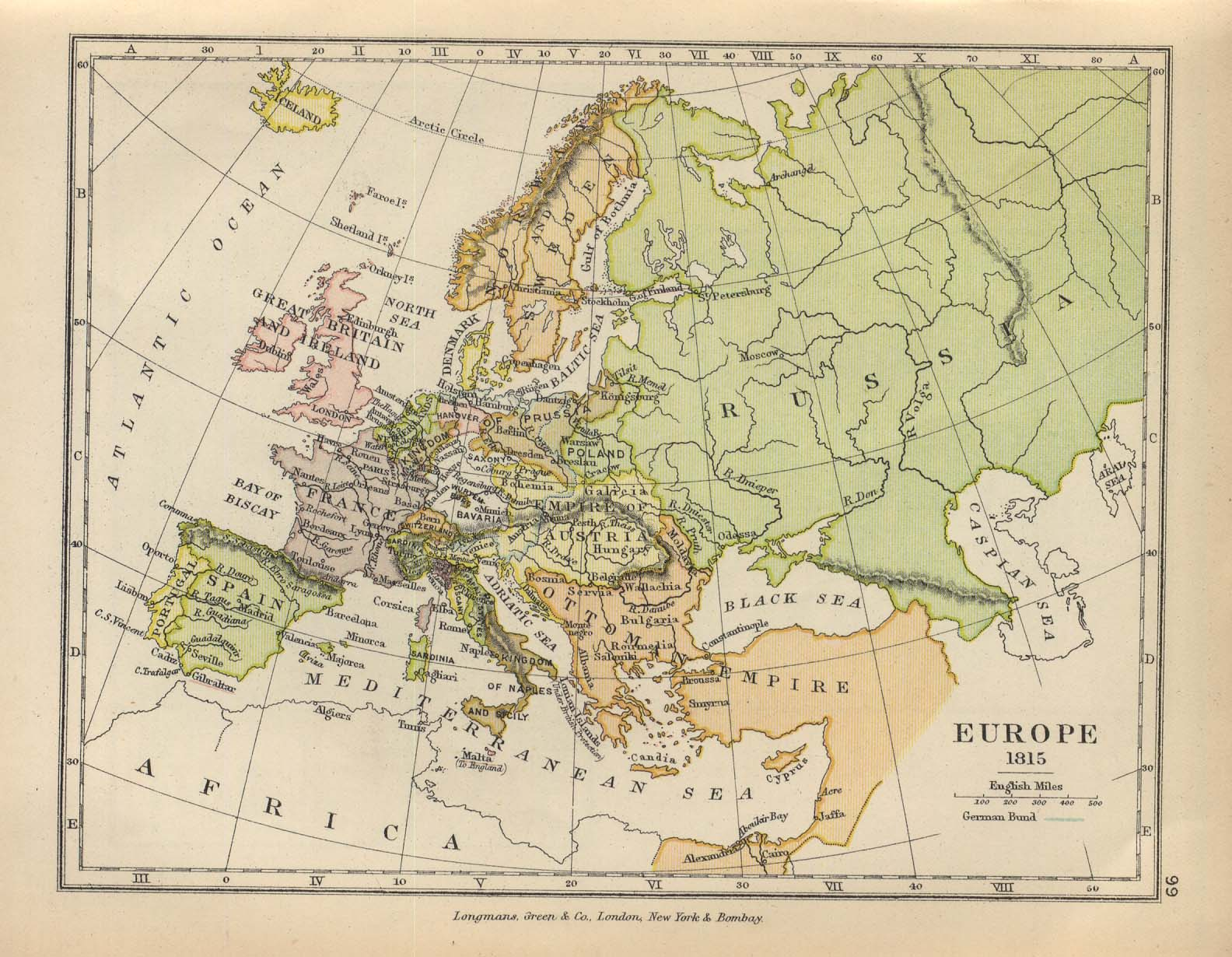 Historical maps of europe europe 1815 charles gumiabroncs Choice Image