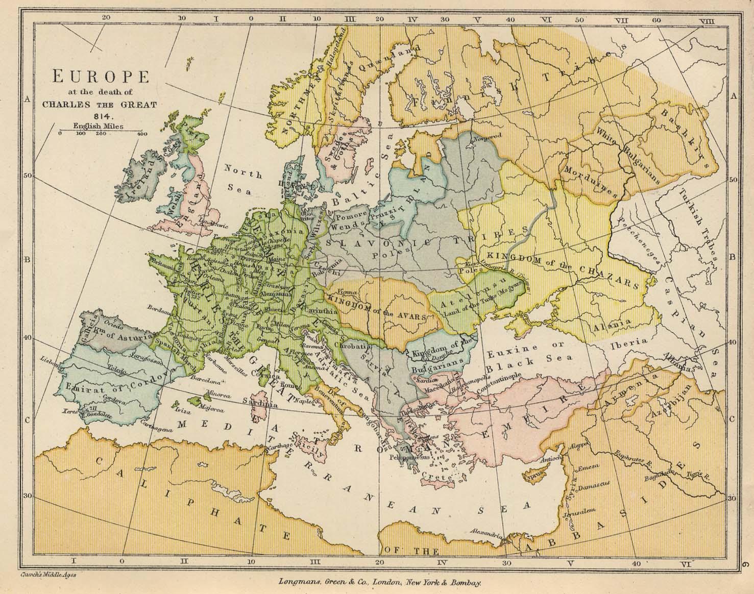 Public Schools Historical Atlas by C Colbeck PerryCasta eda – Europe Atlas Map
