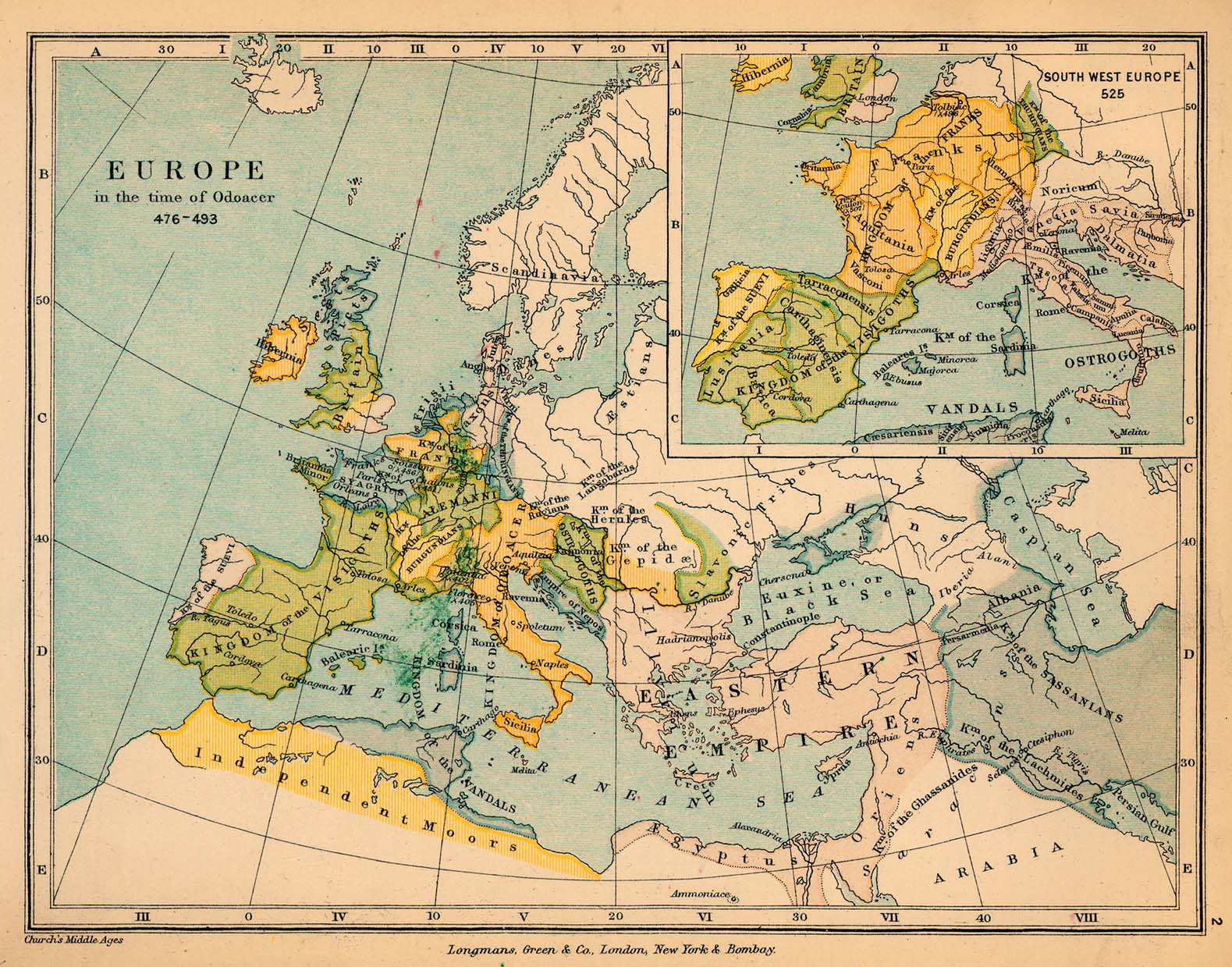 Public schools historical atlas by c colbeck perry castaeda map map 1 europe in the time of odoacer gumiabroncs Gallery