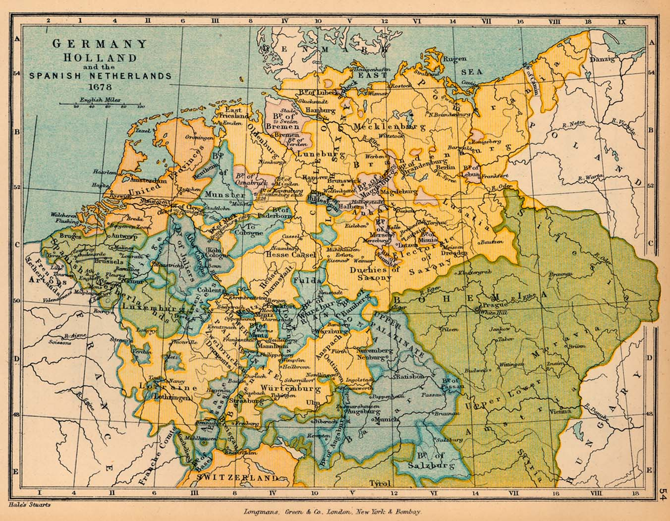17th century Archive The Org – Map of Germany and Holland Together