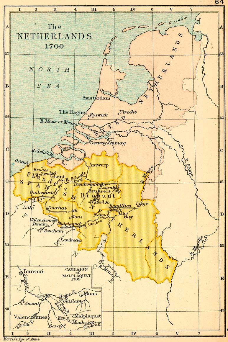 Map Of Spain 1700.Public Schools Historical Atlas By C Colbeck Perry Castaneda Map