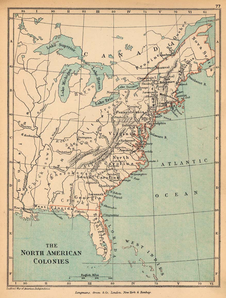 Public Schools Historical Atlas By C Colbeck PerryCastañeda - Us map 1700