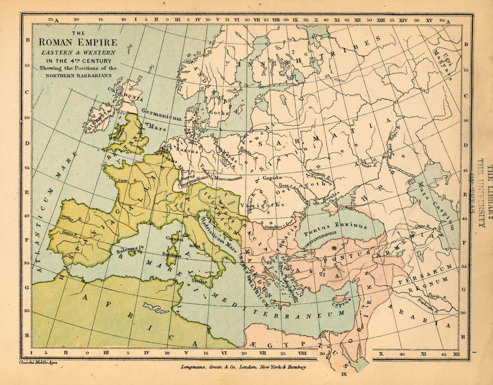 Public schools historical atlas by c colbeck perry castaeda map the roman empire eastern and western in the 4th century 368k map gumiabroncs Image collections