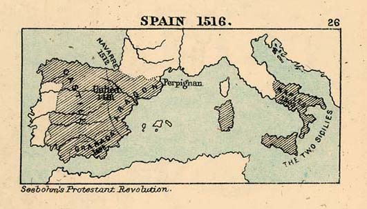 Historical Maps Of Spain And Portugal - Spain historical map