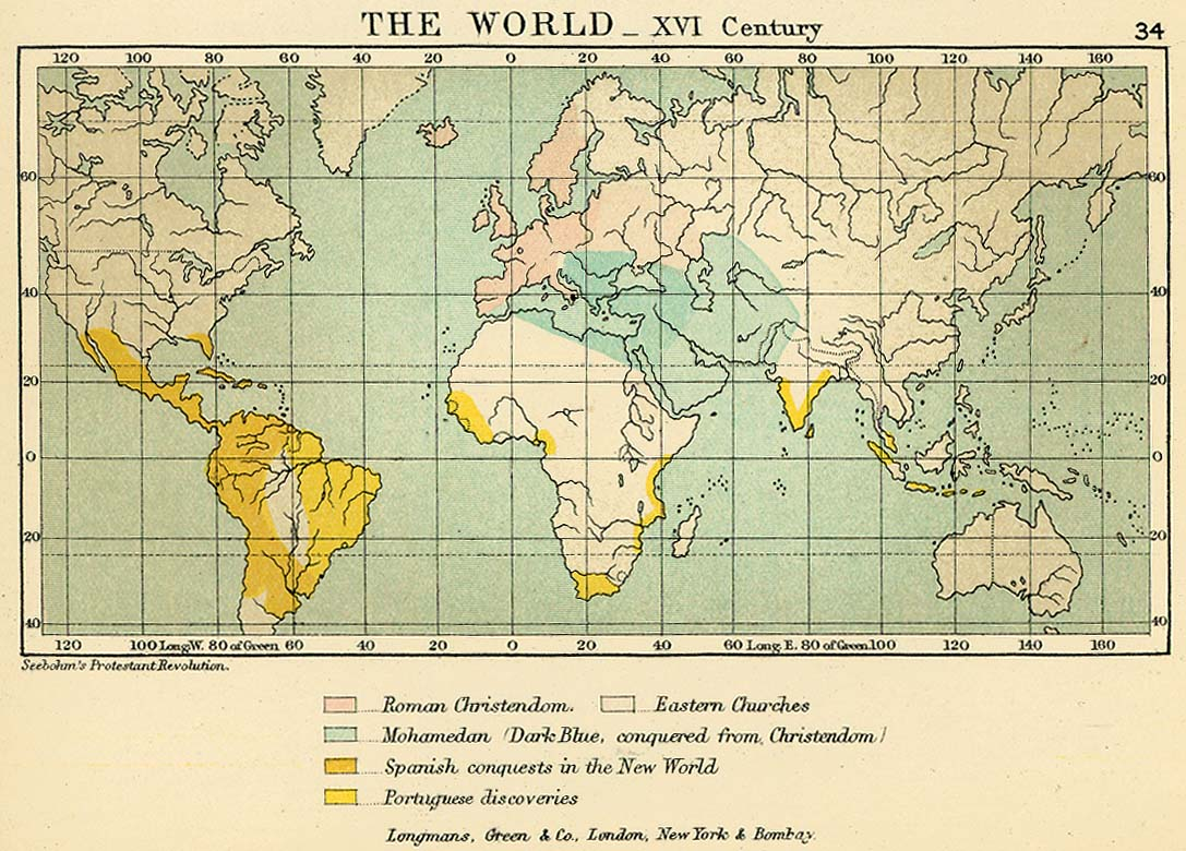 World historical maps perry castaeda map collection ut library the world xvi century gumiabroncs Choice Image