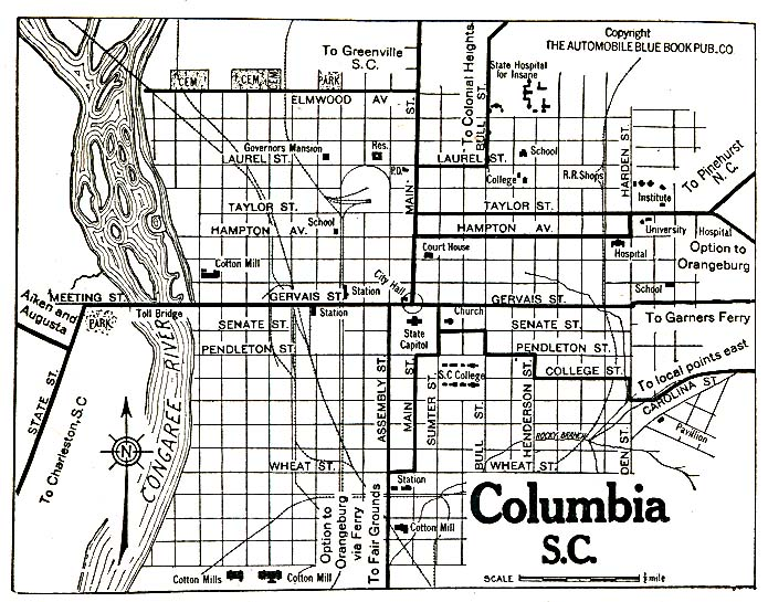 Richland County South Carolina  Historical Maps