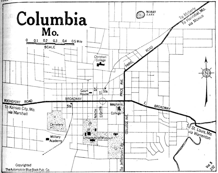 Columbia Mo Map Missouri Maps   Perry Castañeda Map Collection   UT Library Online
