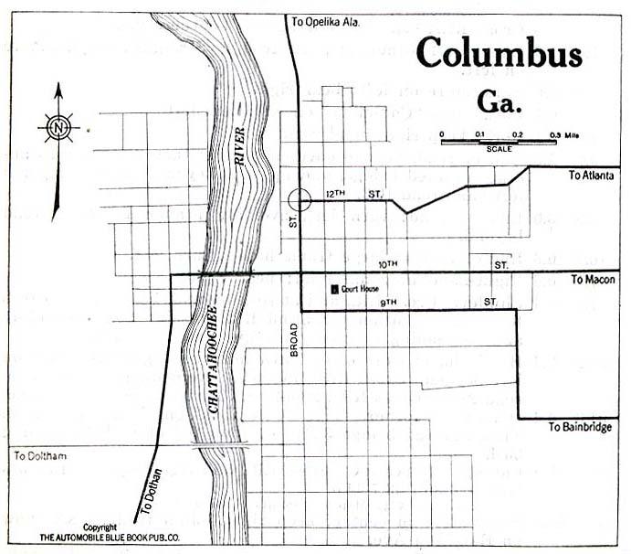 United States Historical City Maps PerryCastañeda Map - Georgia on us map