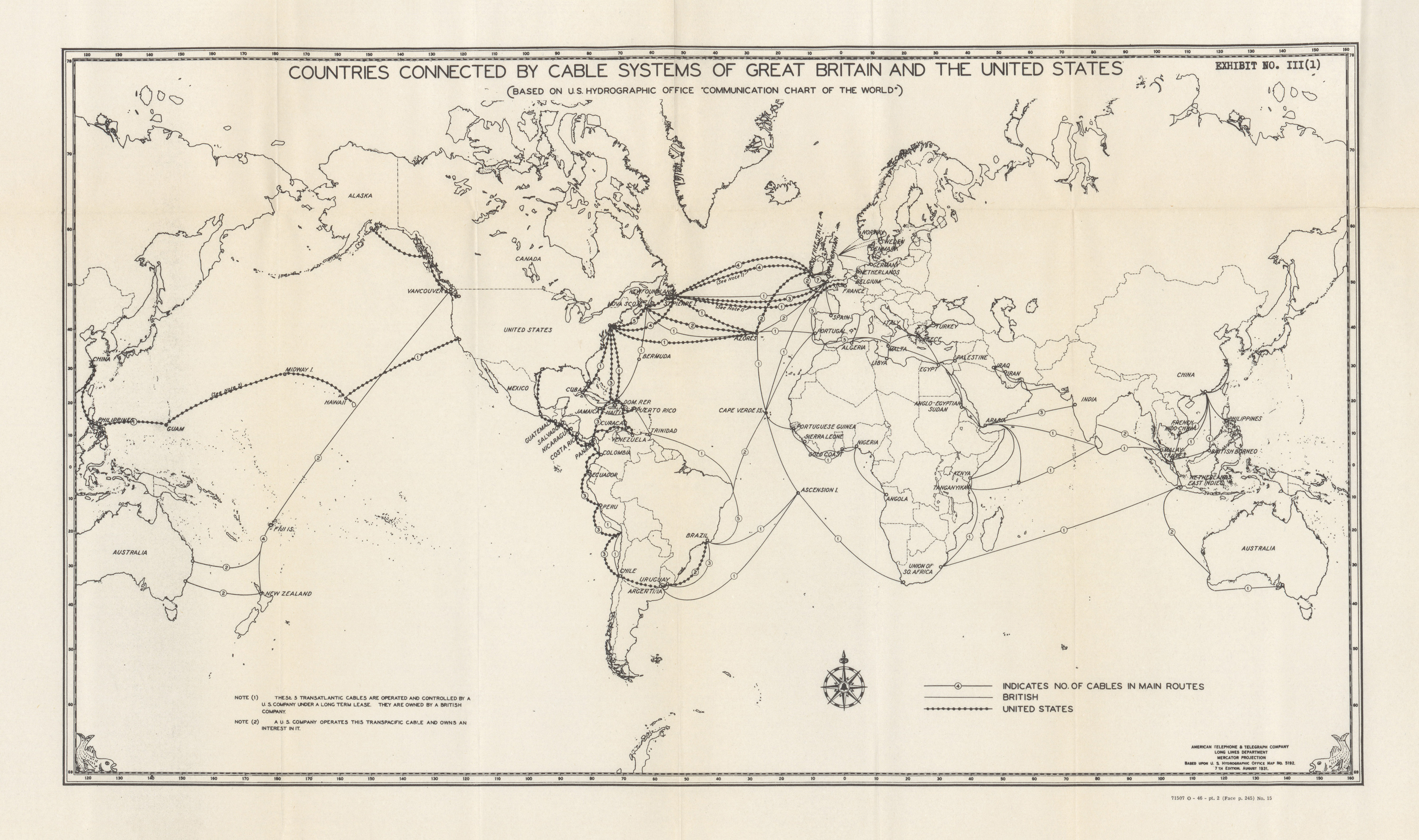Maps From Congressional Hearings PerryCastañeda Map Collection - Us cable map