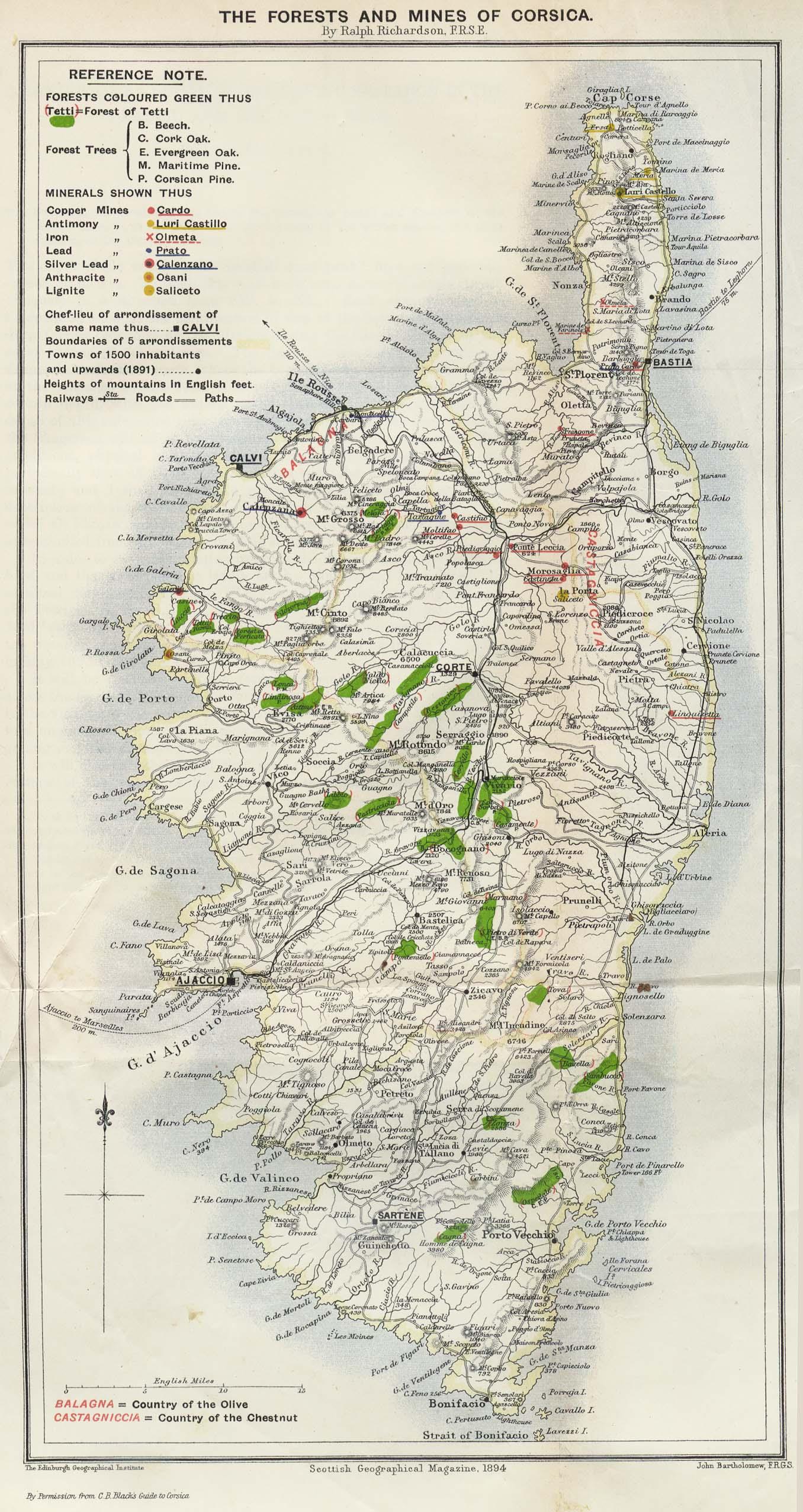 Souvent Corse : Histoire, Patrimoine, Cartes & Documents en ligne LEXILOGOS >> YS58