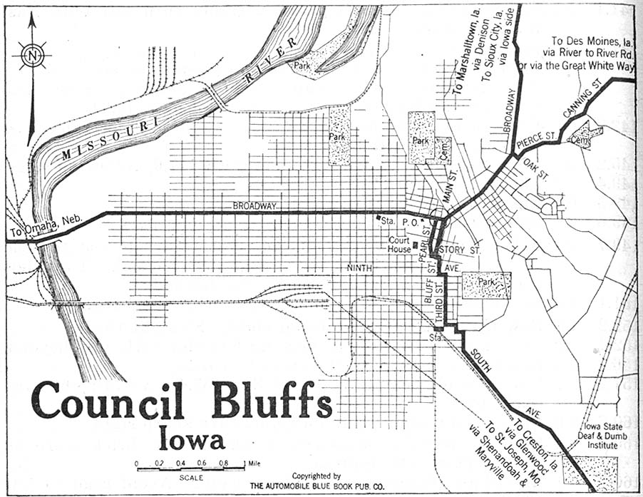 map of council bluffs iowa Iowa Maps Perry Castaneda Map Collection Ut Library Online map of council bluffs iowa