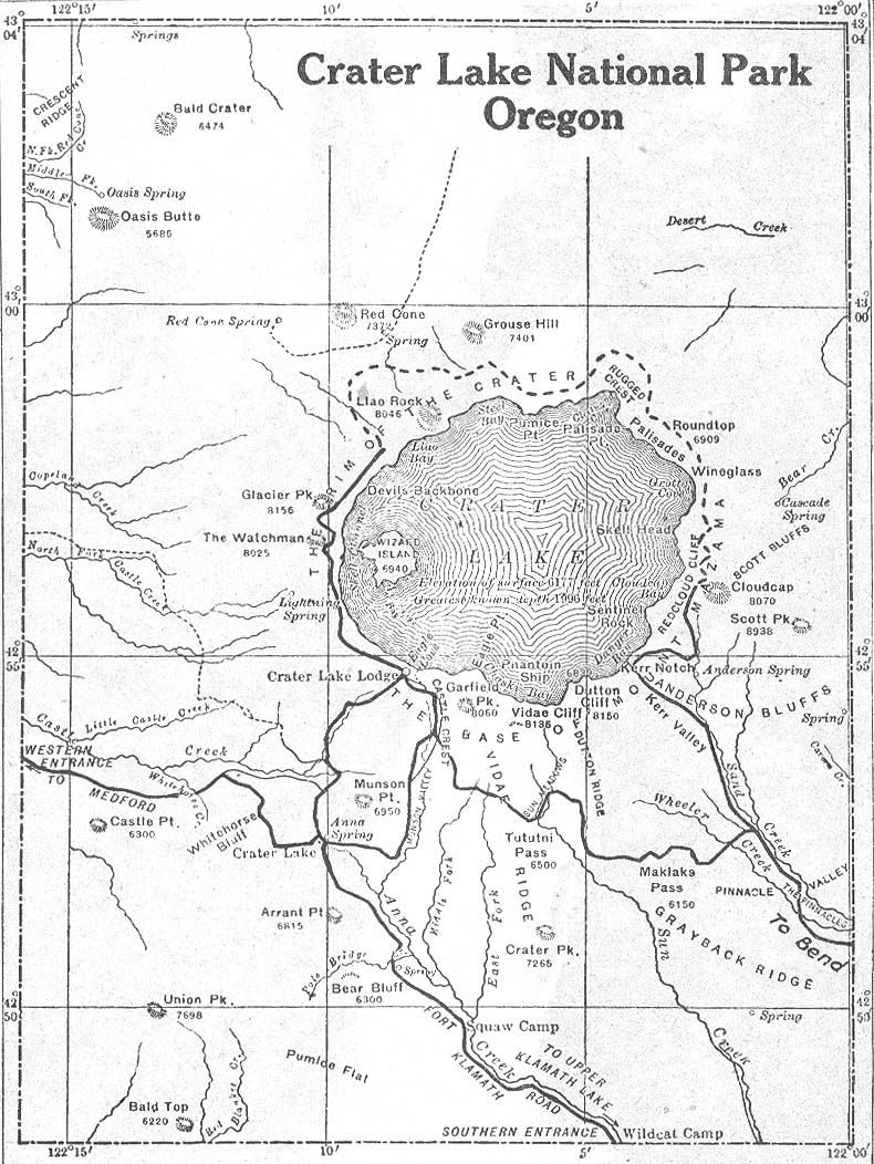 Crater Lake Topographic Map.Oregon Maps Perry Castaneda Map Collection Ut Library Online
