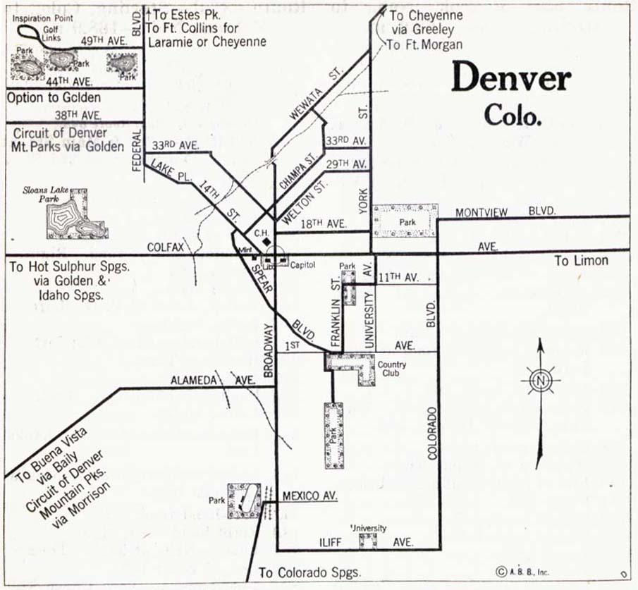 Colorado Maps PerryCastañeda Map Collection UT Library Online - Road maps of colorado