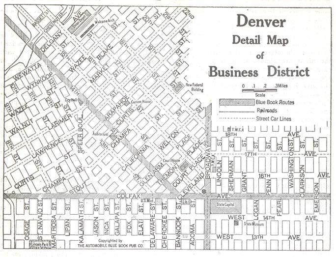 Map of Denver, circa 1920 : Denver