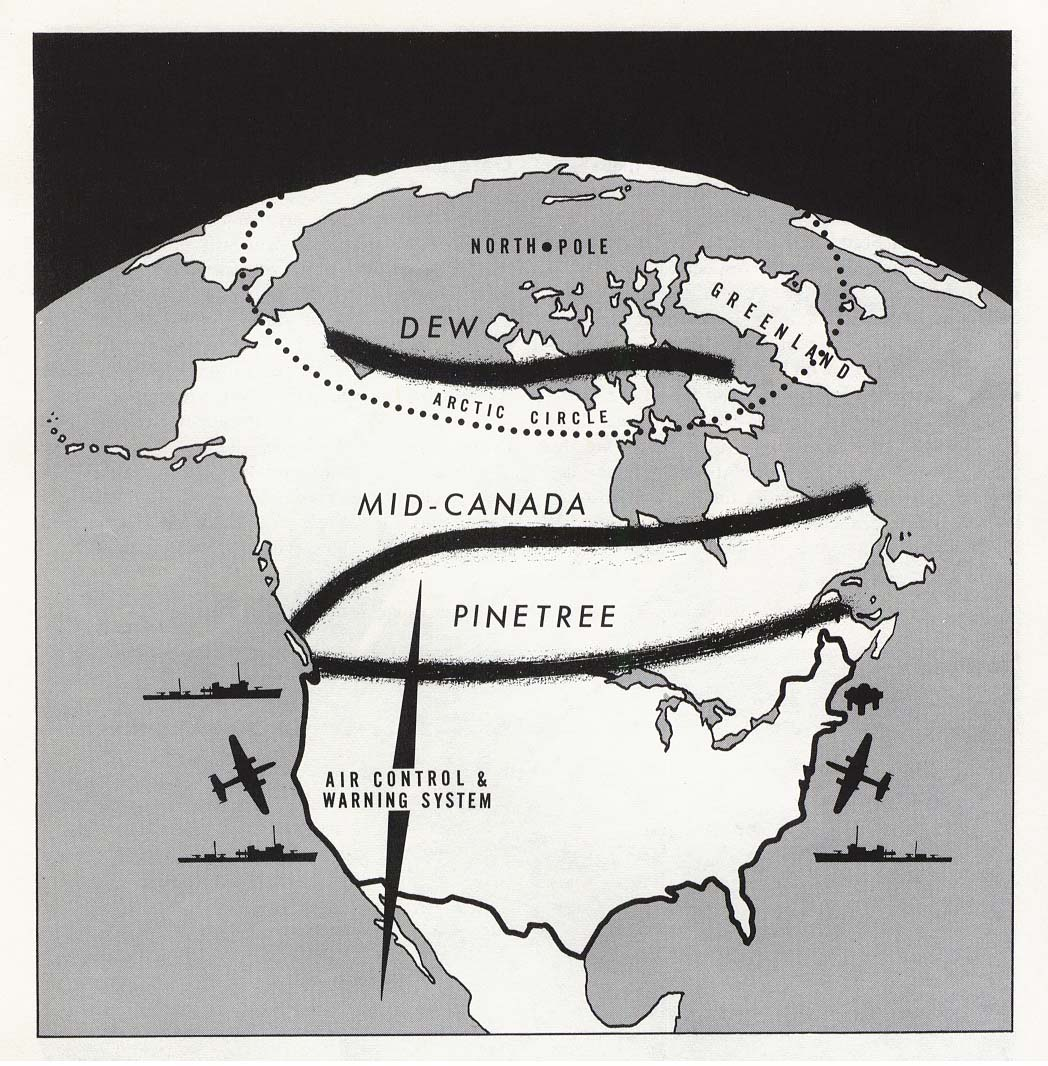 North America Air Control And Warning System Dew Mid Canada And Pinetree Lines 1960