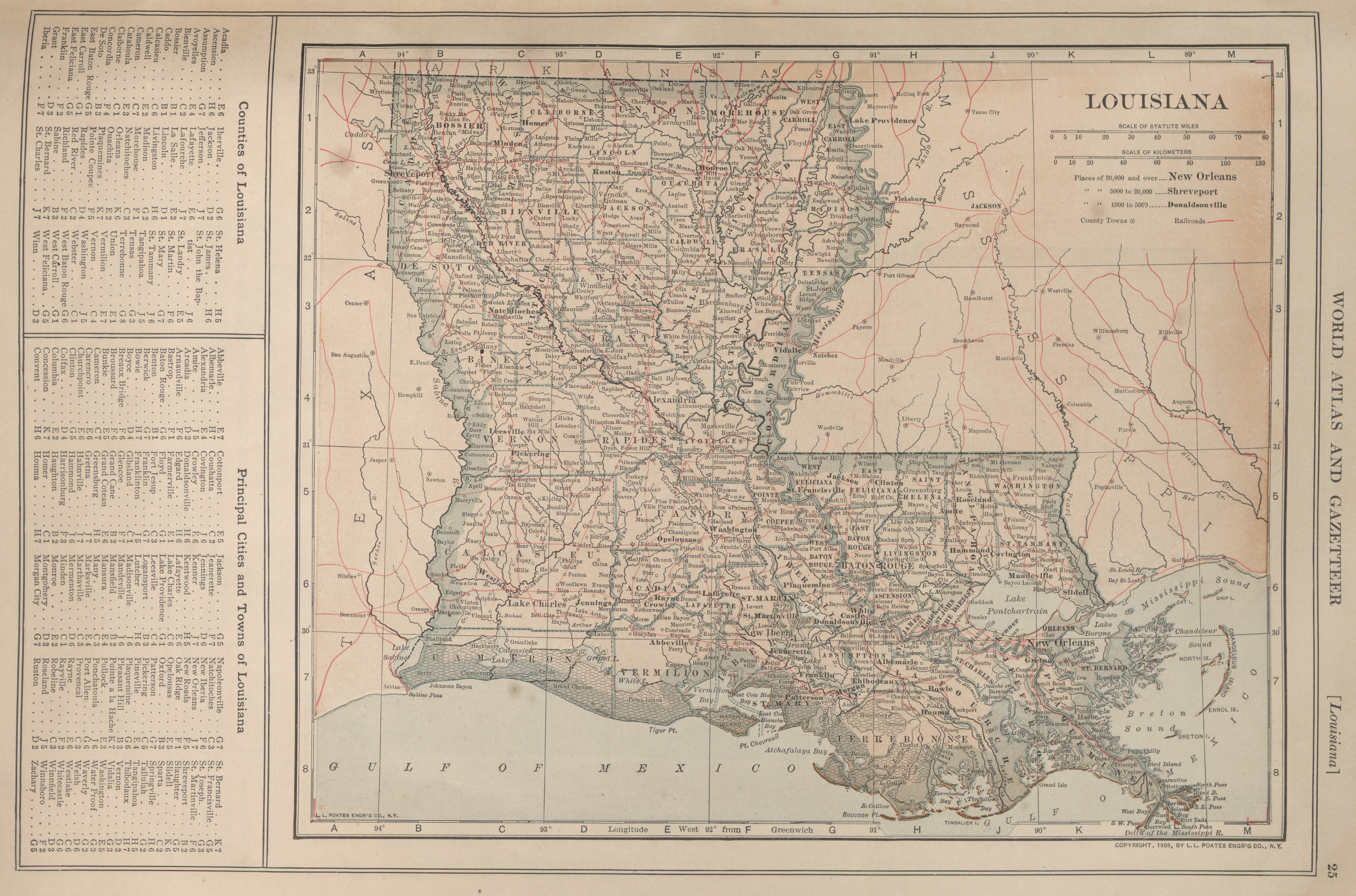 Maps from the New Encyclopedia Atlas and Gazetter Perry
