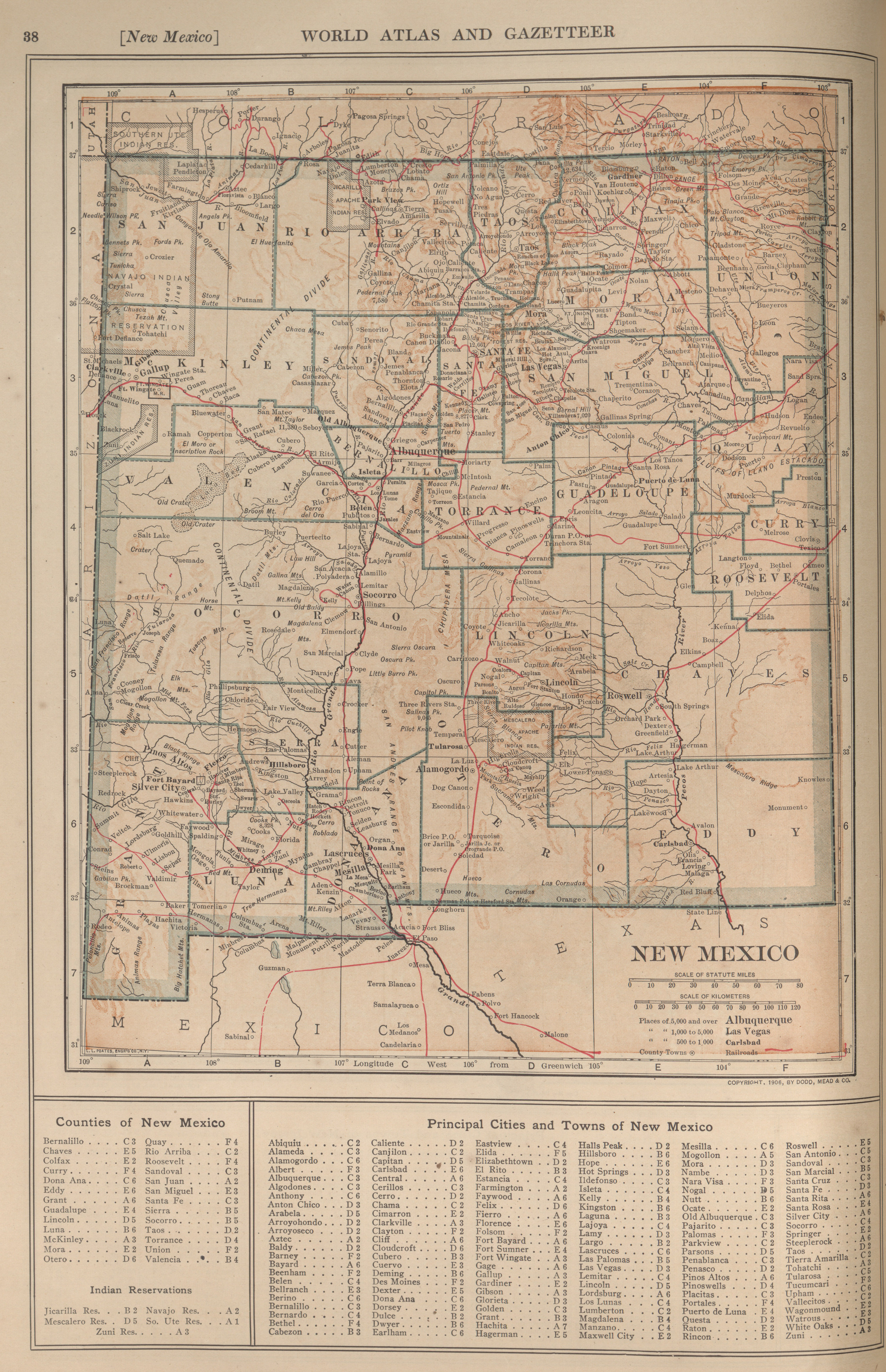 Maps from the new encyclopedia atlas and gazetter perry castaeda new mexico 41 mb gumiabroncs Image collections