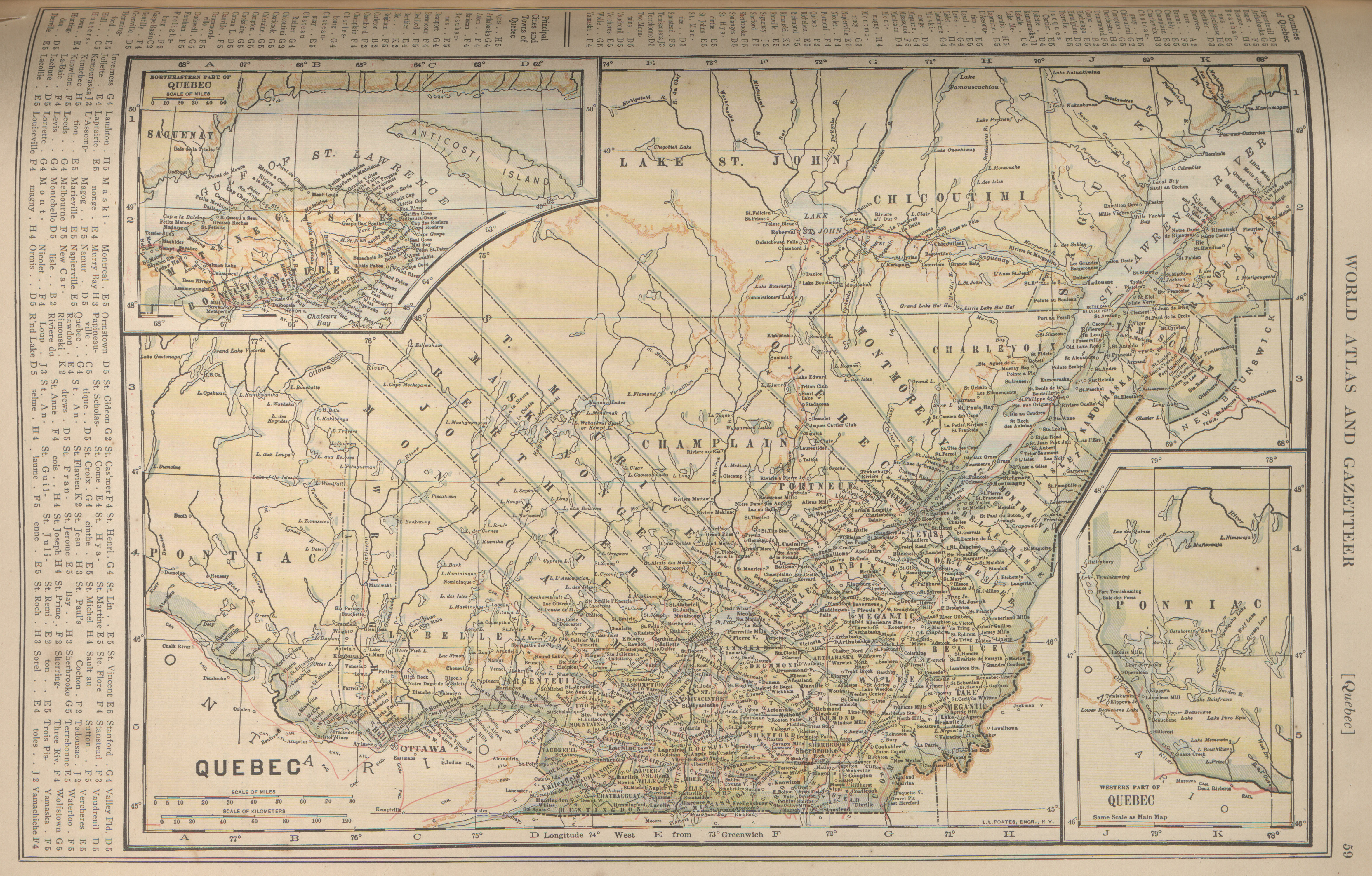 Maps from the new encyclopedia atlas and gazetter perry quebec gumiabroncs Image collections