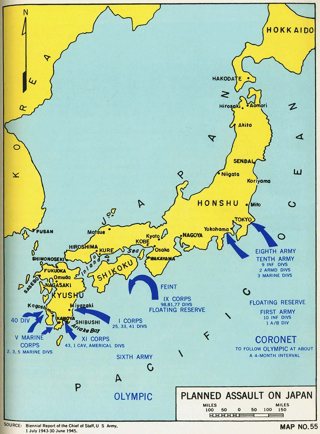 Engineers Of The Southwest Pacific Vol Perry - Japan map legend