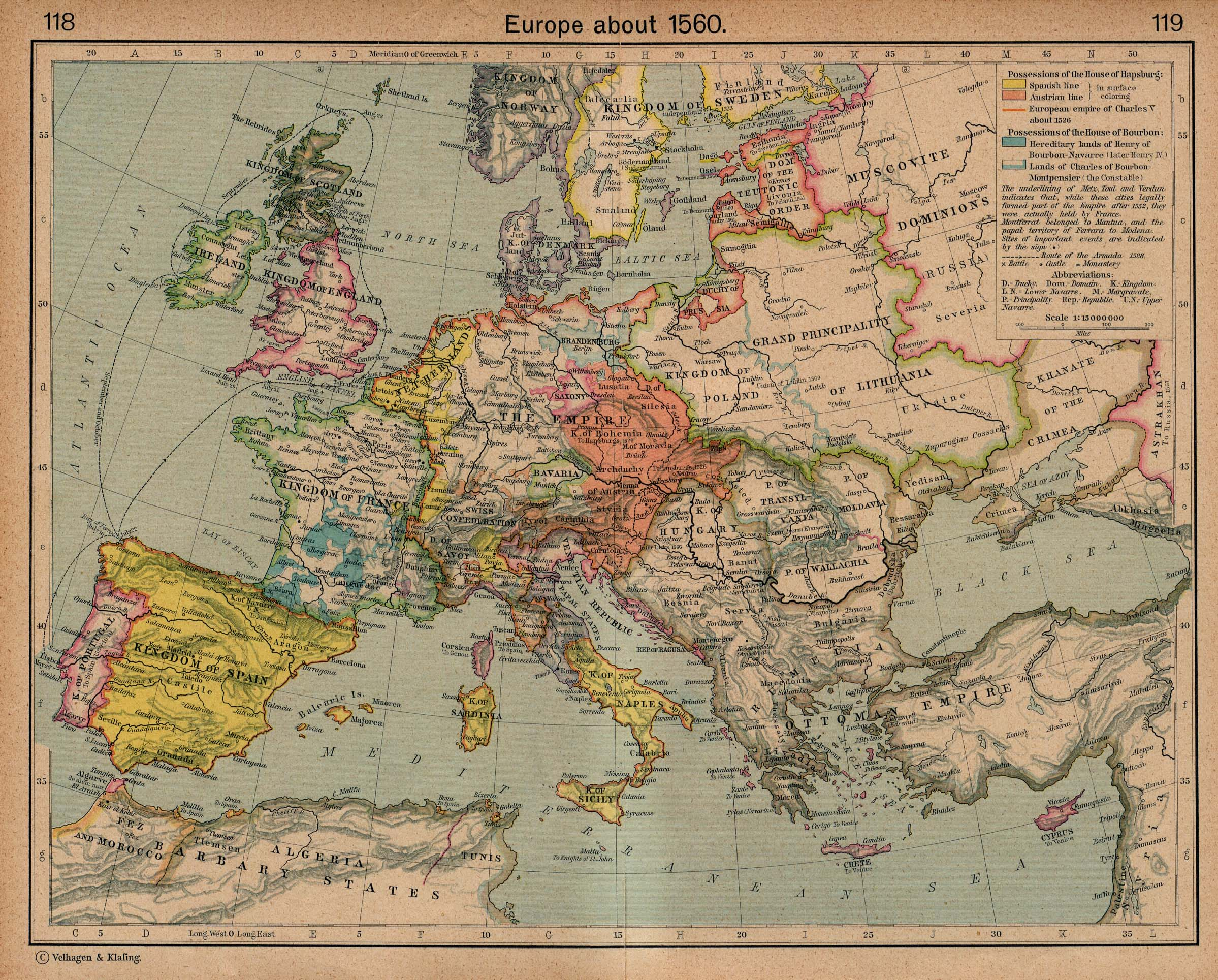 Map Of Europe In The 1500s.The Balkans Historical Maps Perry Castaneda Map Collection Ut