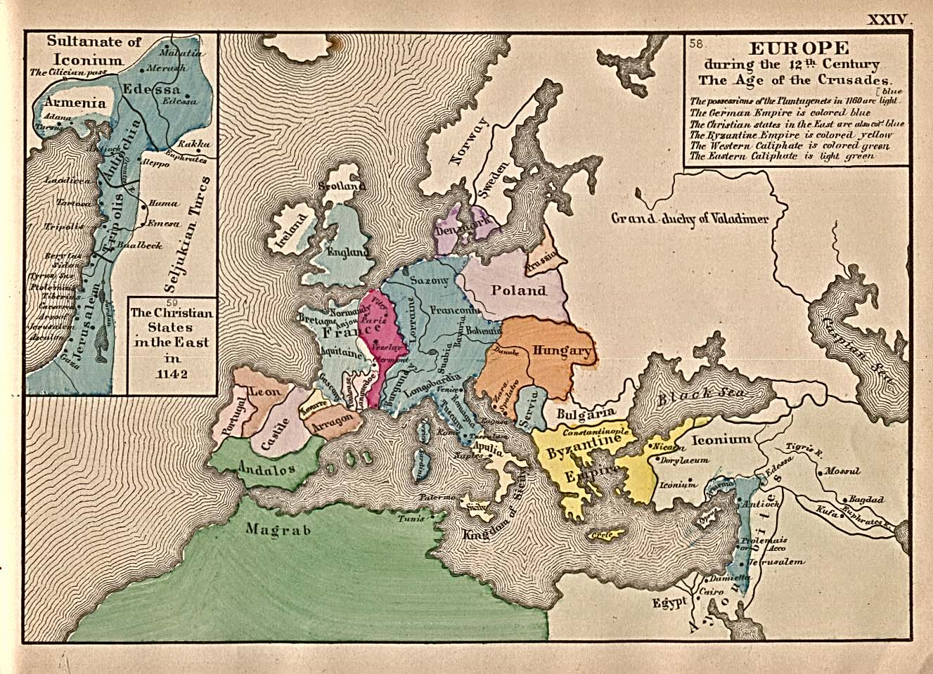 14th Century Map Of Europe.Europe Historical Maps Perry Castaneda Map Collection Ut Library