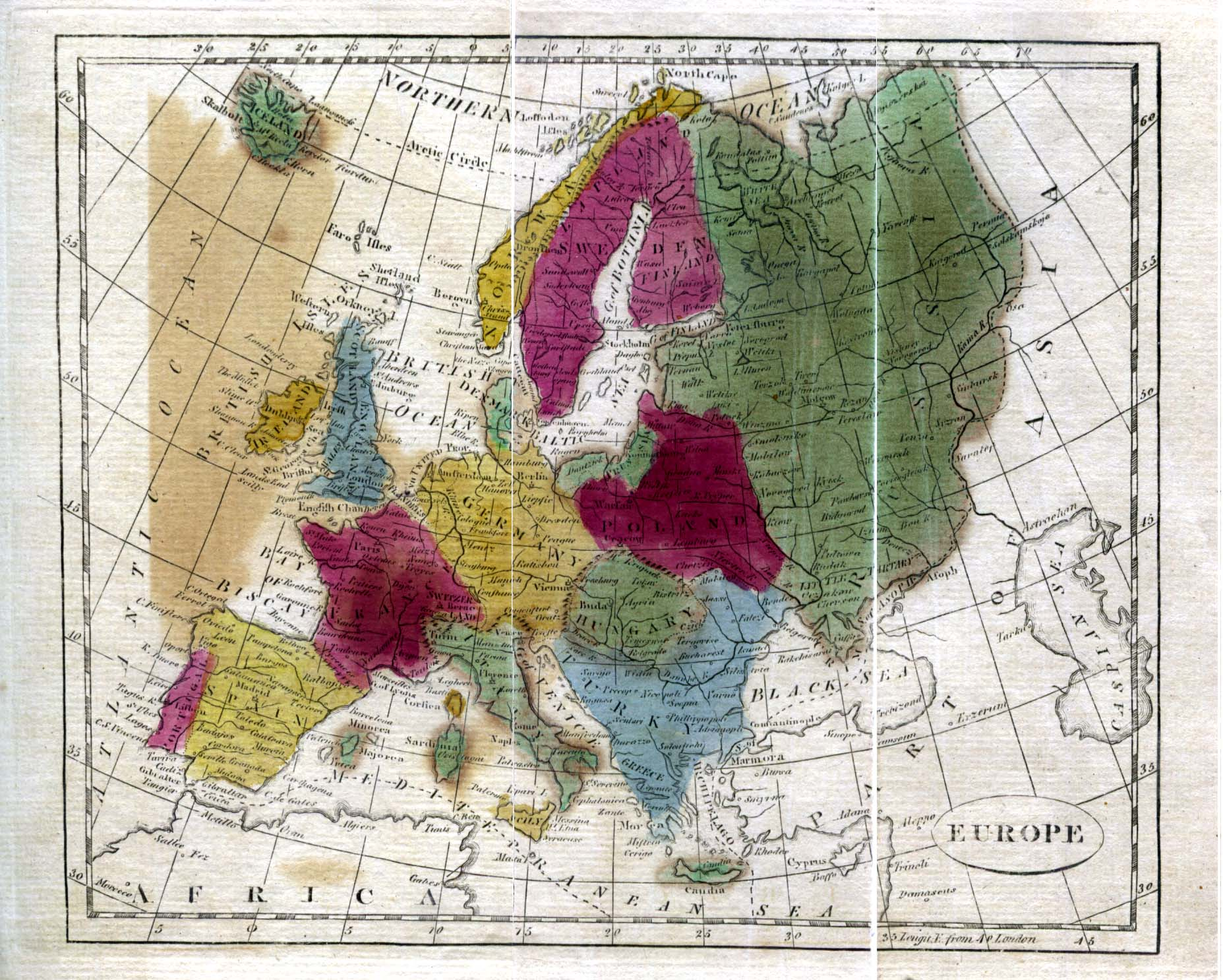 Historical Maps of Europe. Europe 1808 (516K) From The General Gazetteer; or, Compendious Geographical Dictionary. Compiled by R. Brookes, Revised by W. Guthrie and E. Jones. Eighth Edition, Dublin, 1808