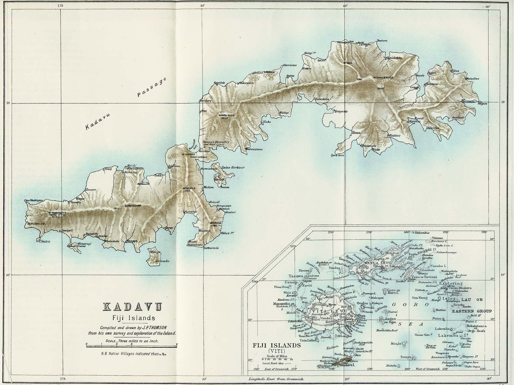 Fiji Maps PerryCastañeda Map Collection UT Library Online - Fiji islands map