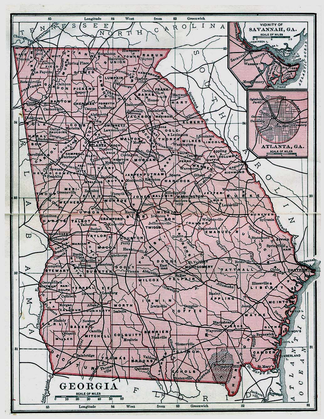 Georgia Maps PerryCastañeda Map Collection UT Library Online - Maps of georgia usa