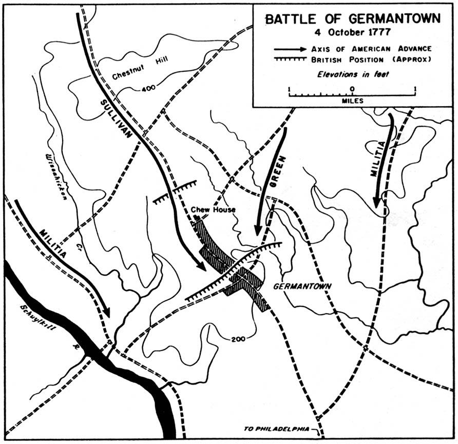 1777 battle of germantown 4 october 1777