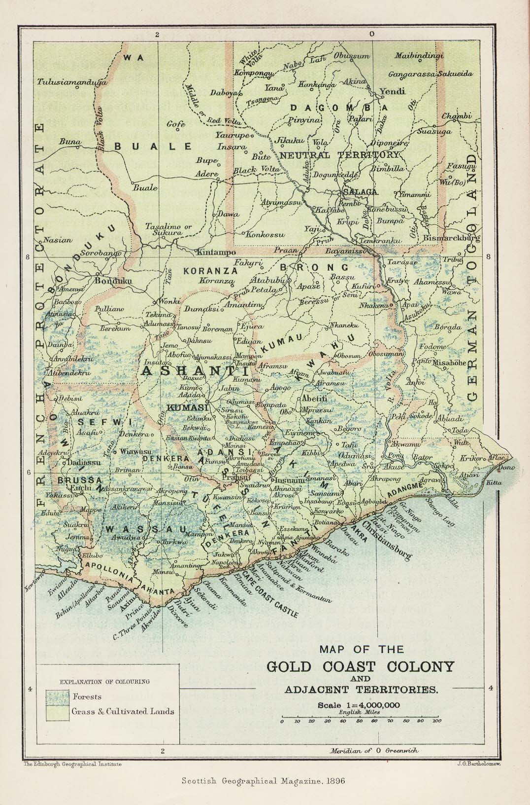 Africa Historical Maps PerryCastañeda Map Collection UT - 1896 map of us