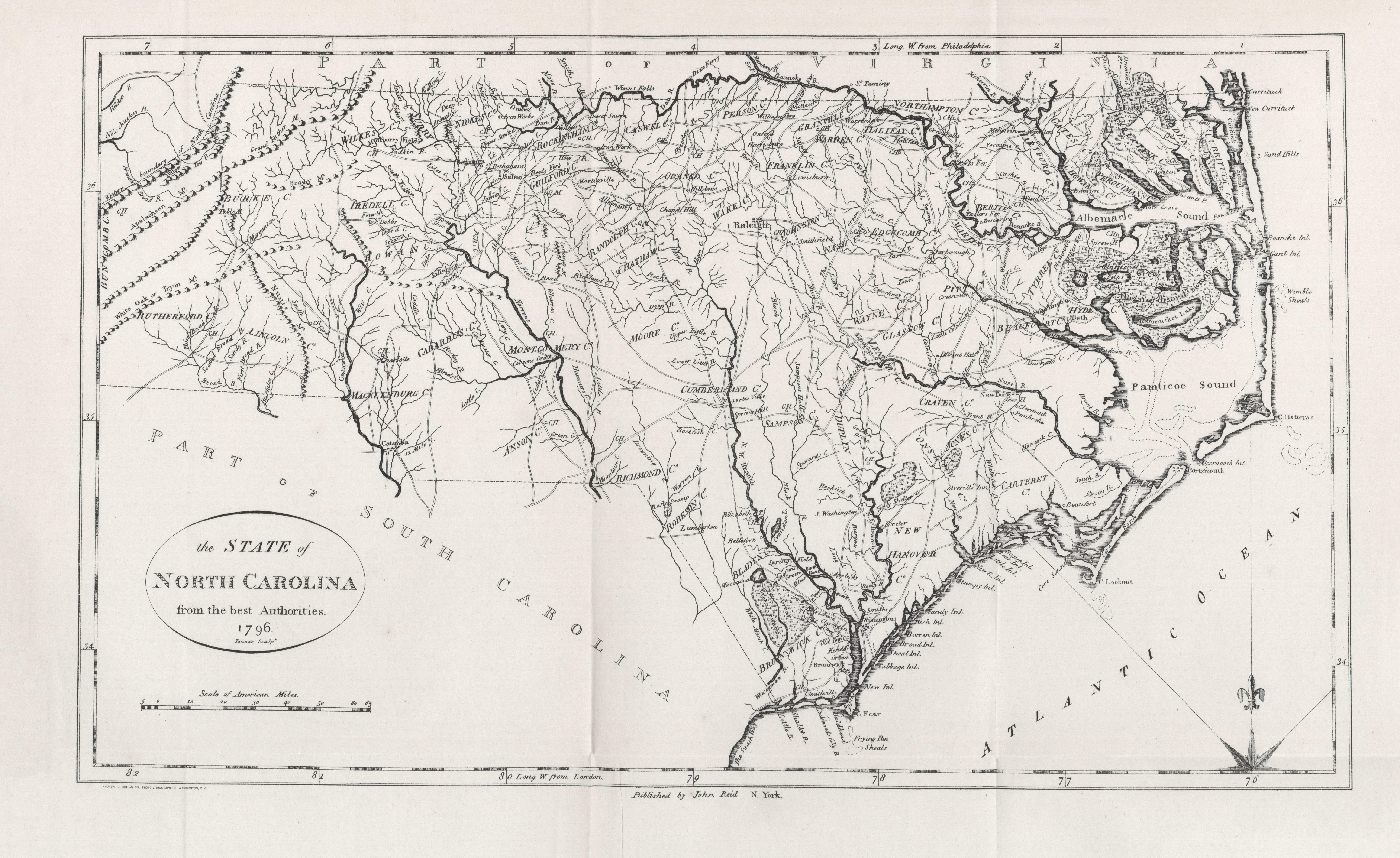 North Carolina Maps PerryCastañeda Map Collection UT Library - N carolina map