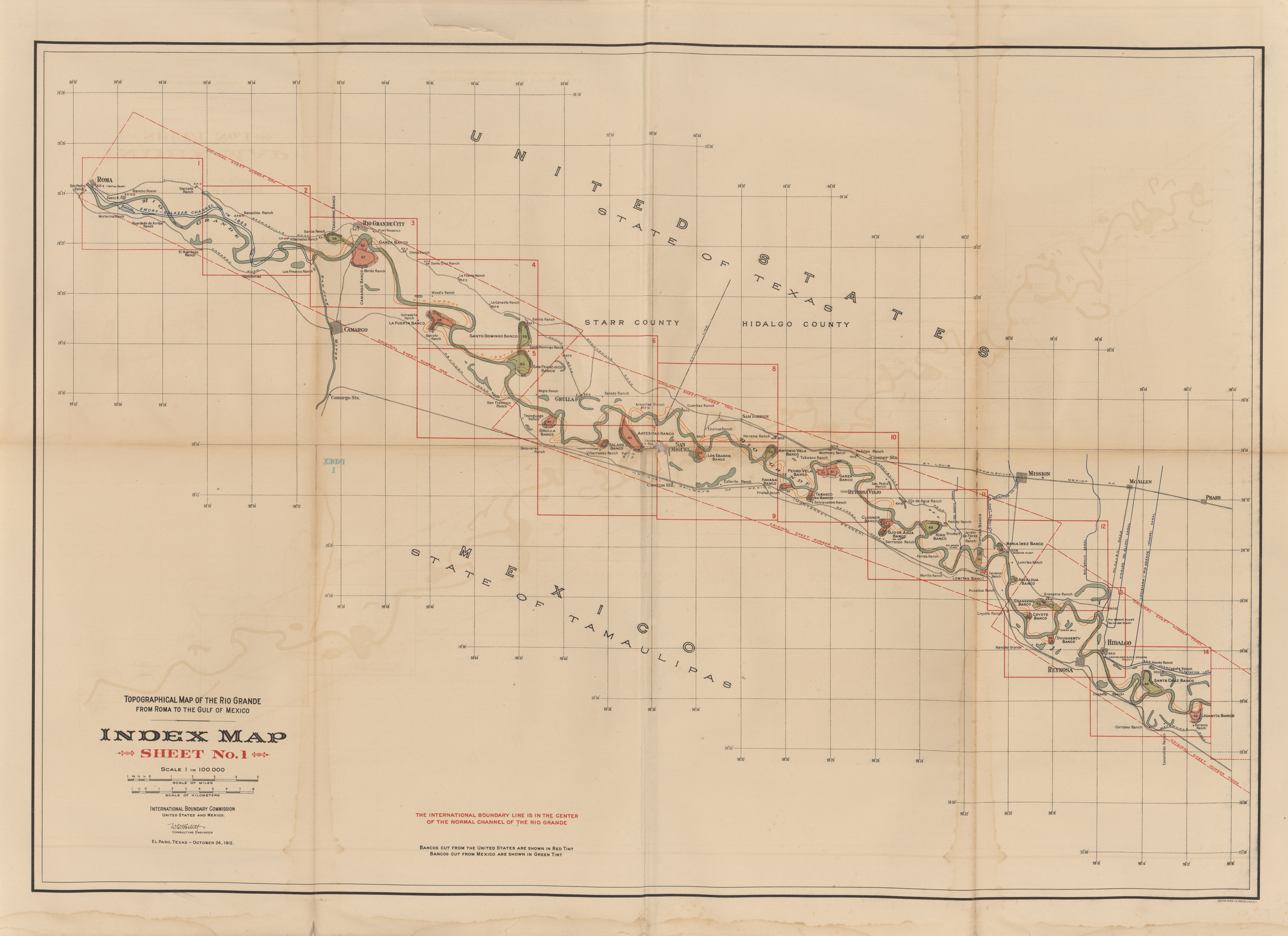 Maps From The International Boundary Commission PerryCastañeda - Map us mexico