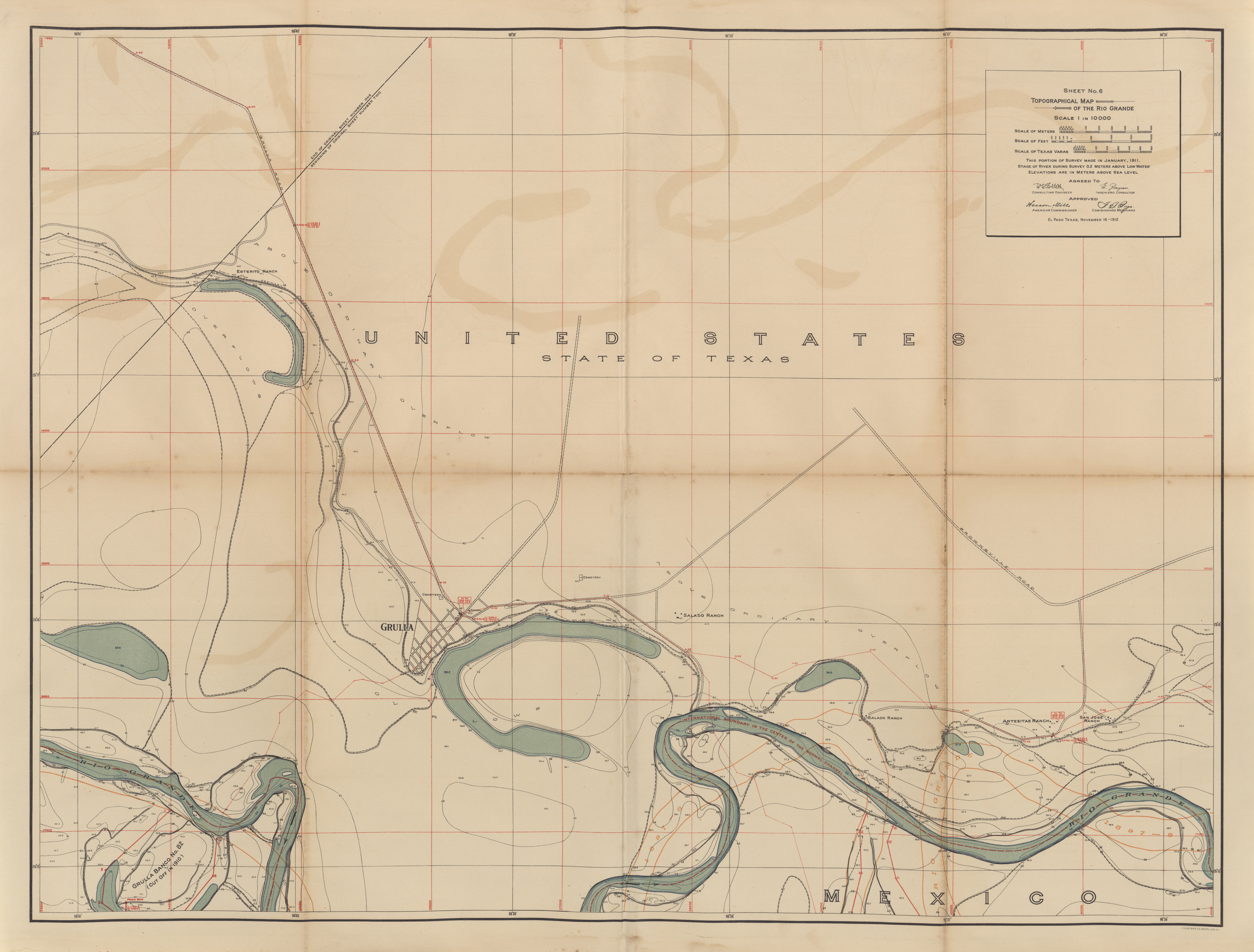 Maps From The International Boundary Commission Perry Castaaeda - Rio-grande-on-us-map