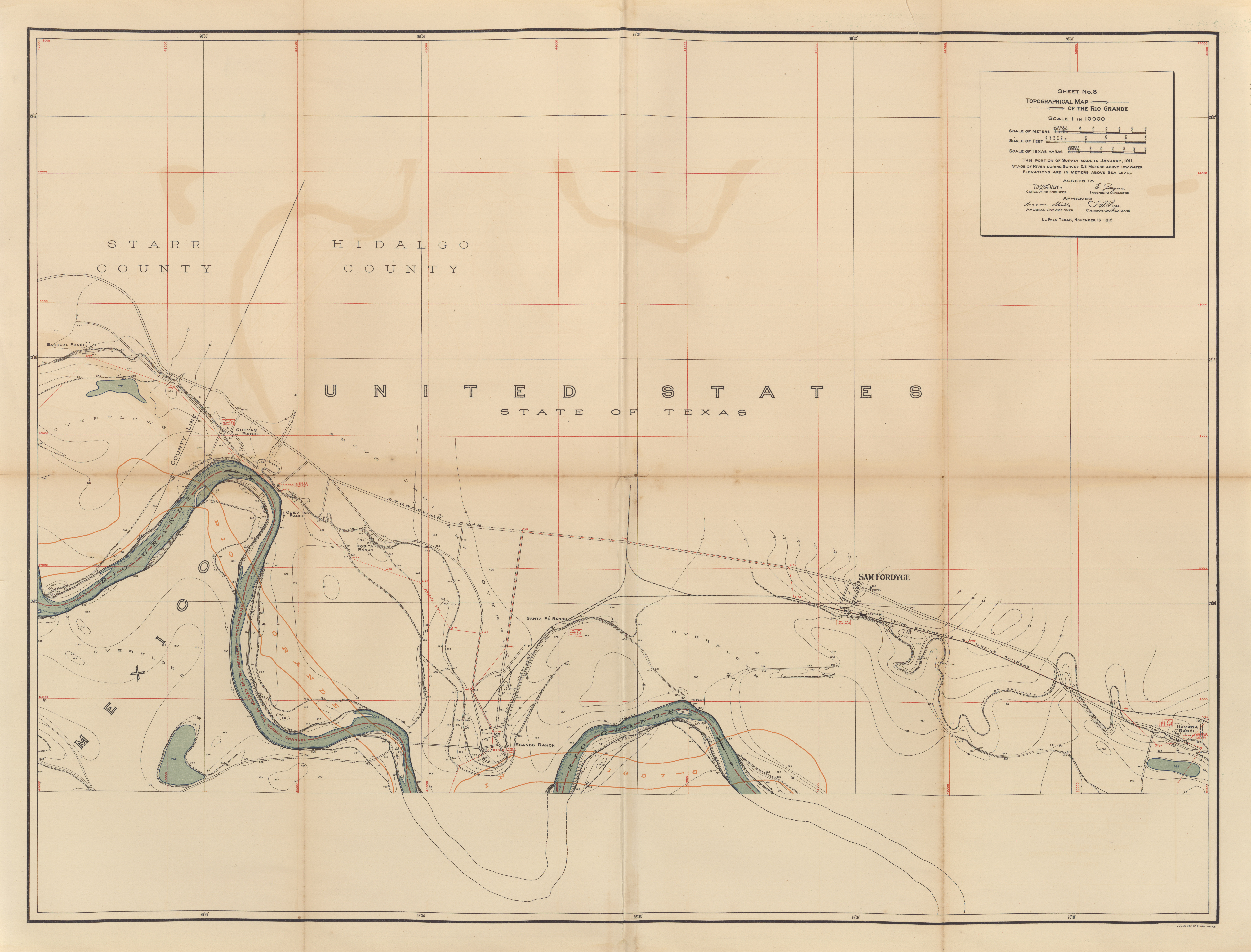 maps from survey of the rio grande roma to the gulf of mexico reports and maps proceedings of the international boundary commission united states and