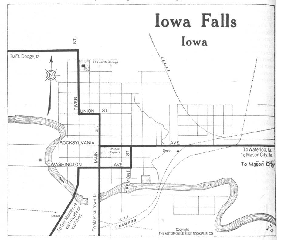 United States Map Of Iowa