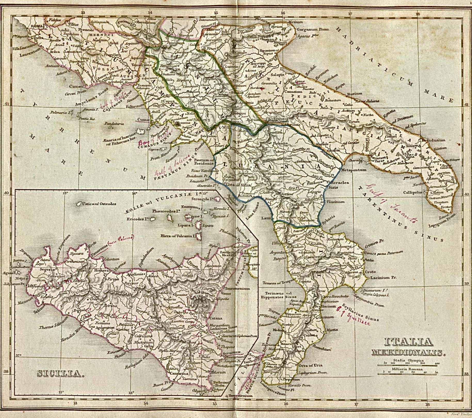 1Up Travel Historical Maps of Europe Italia Ancient Italy 645K From qu