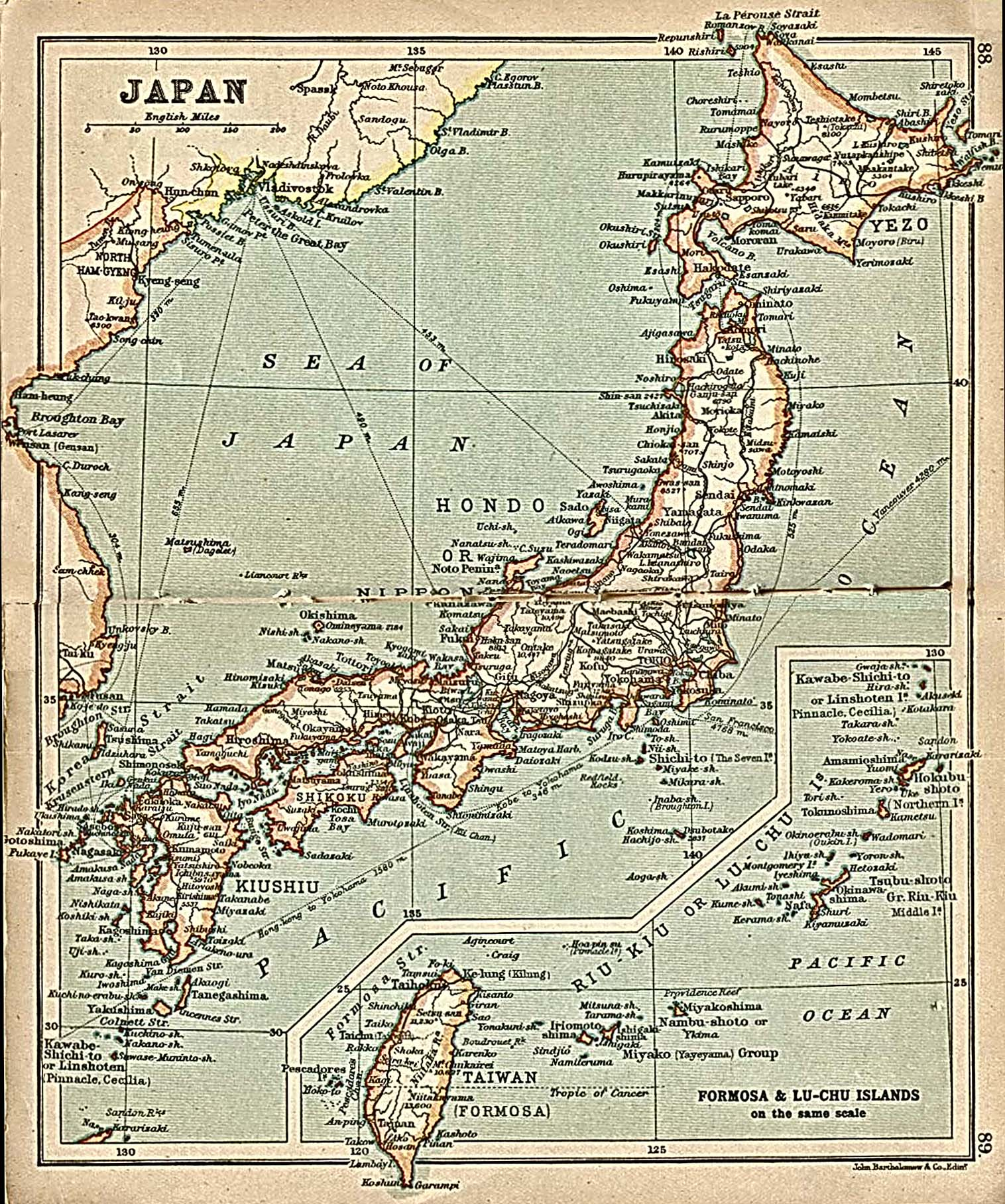 Ancient Map Of Japan.Asia Historical Maps Perry Castaneda Map Collection Ut Library