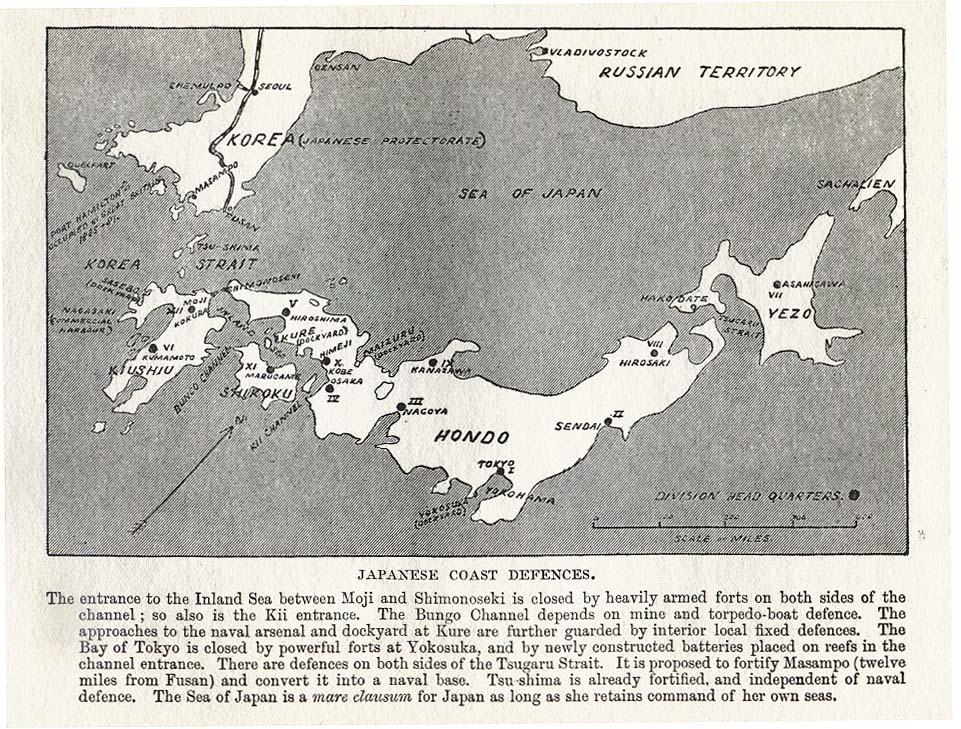 Japanese coast defences 1907