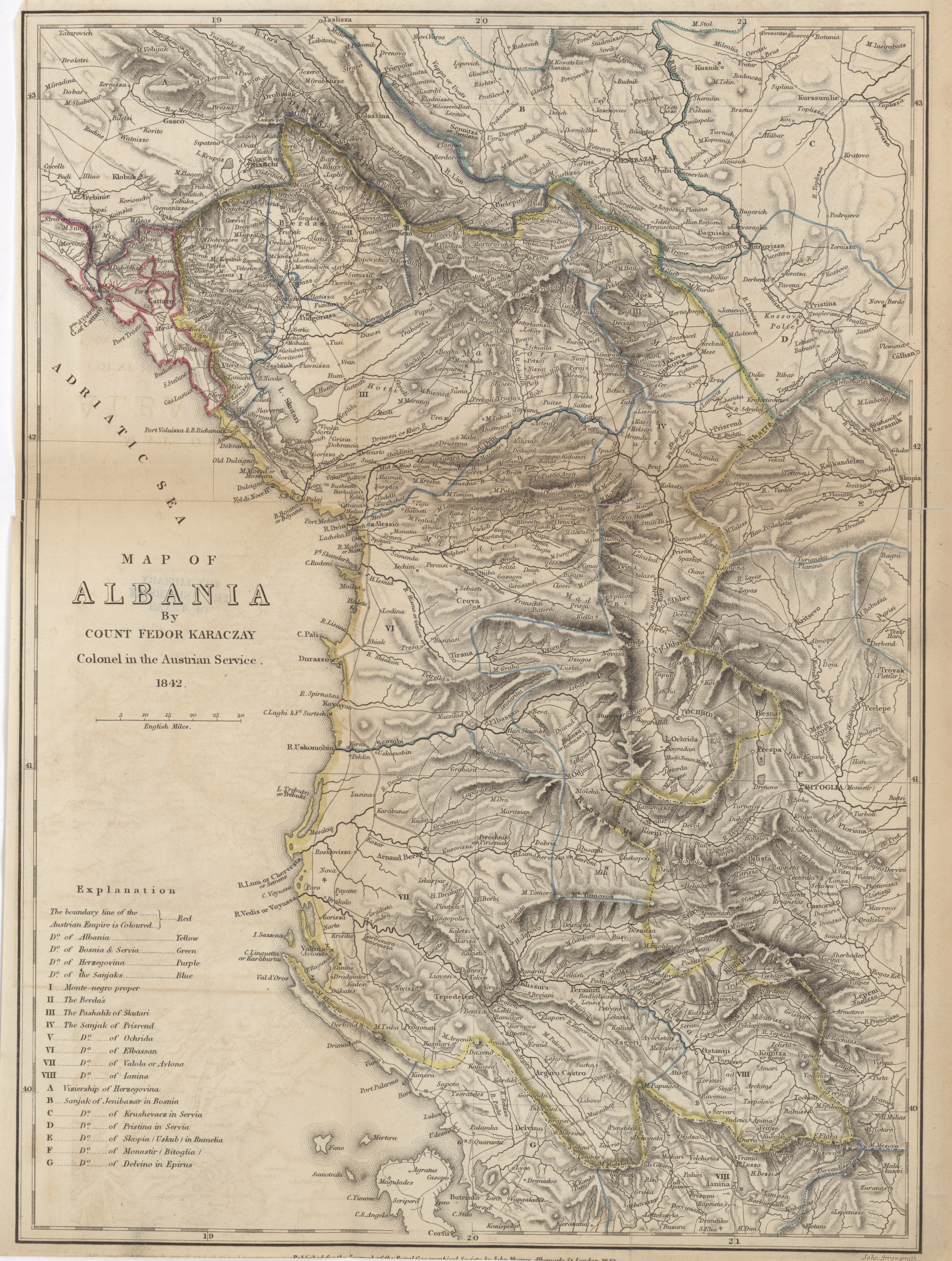 Maps from the Journal of the Royal Geographical Society of London ...