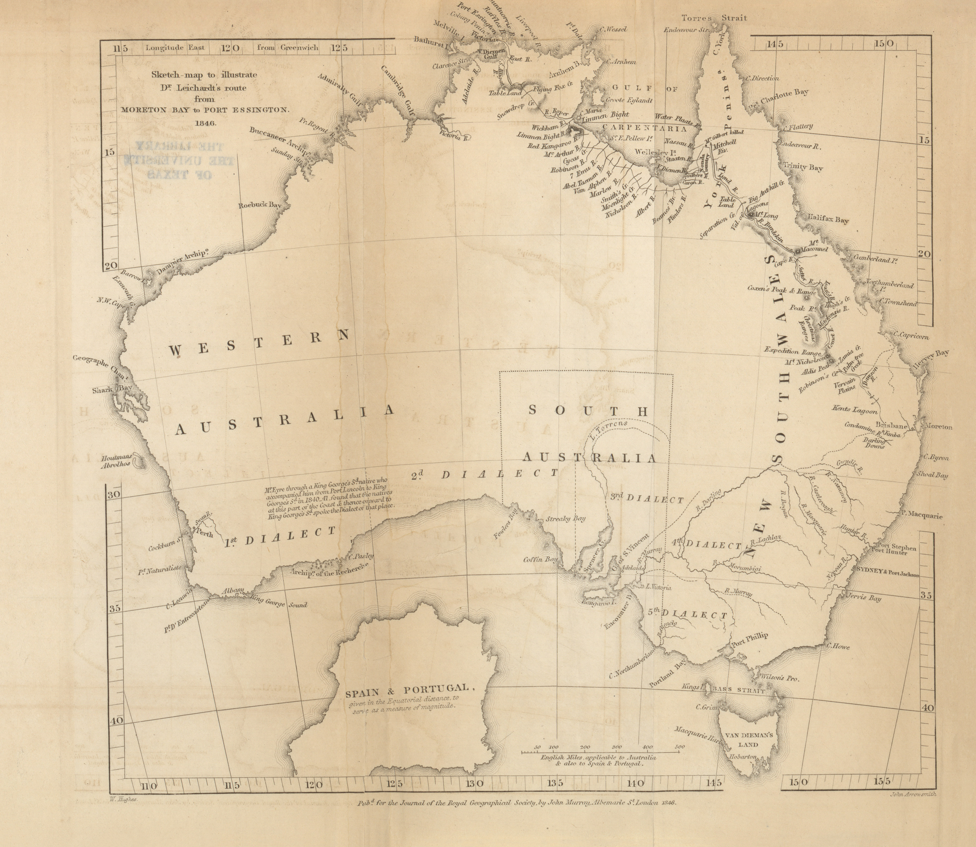 1846 2 3mb Account Of Dr Ludwig Leichardt S Expedition From Moreton Bay To Port Essington Australia