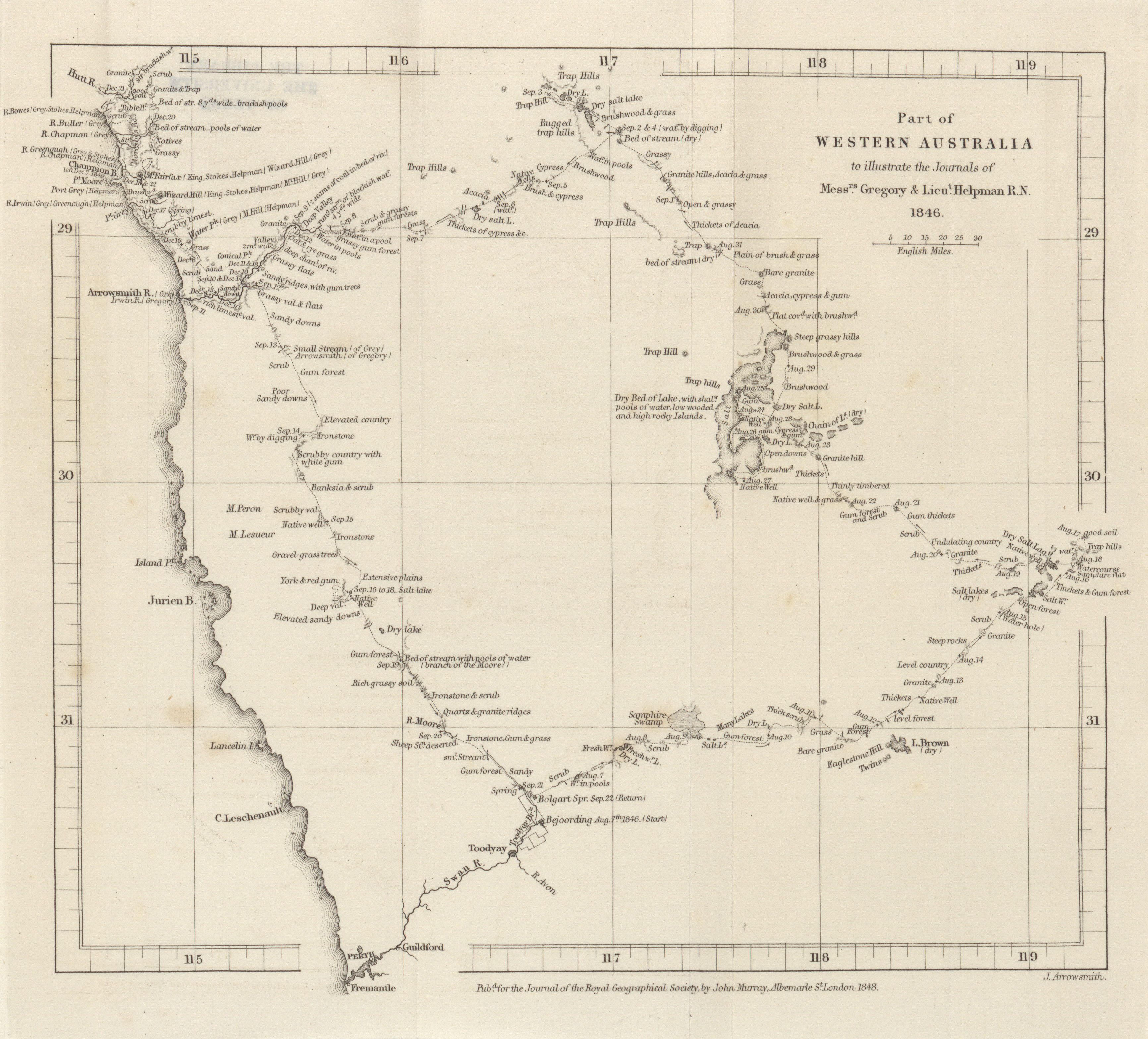 Australia Map In R.Maps From The Journal Of The Royal Geographical Society Of London
