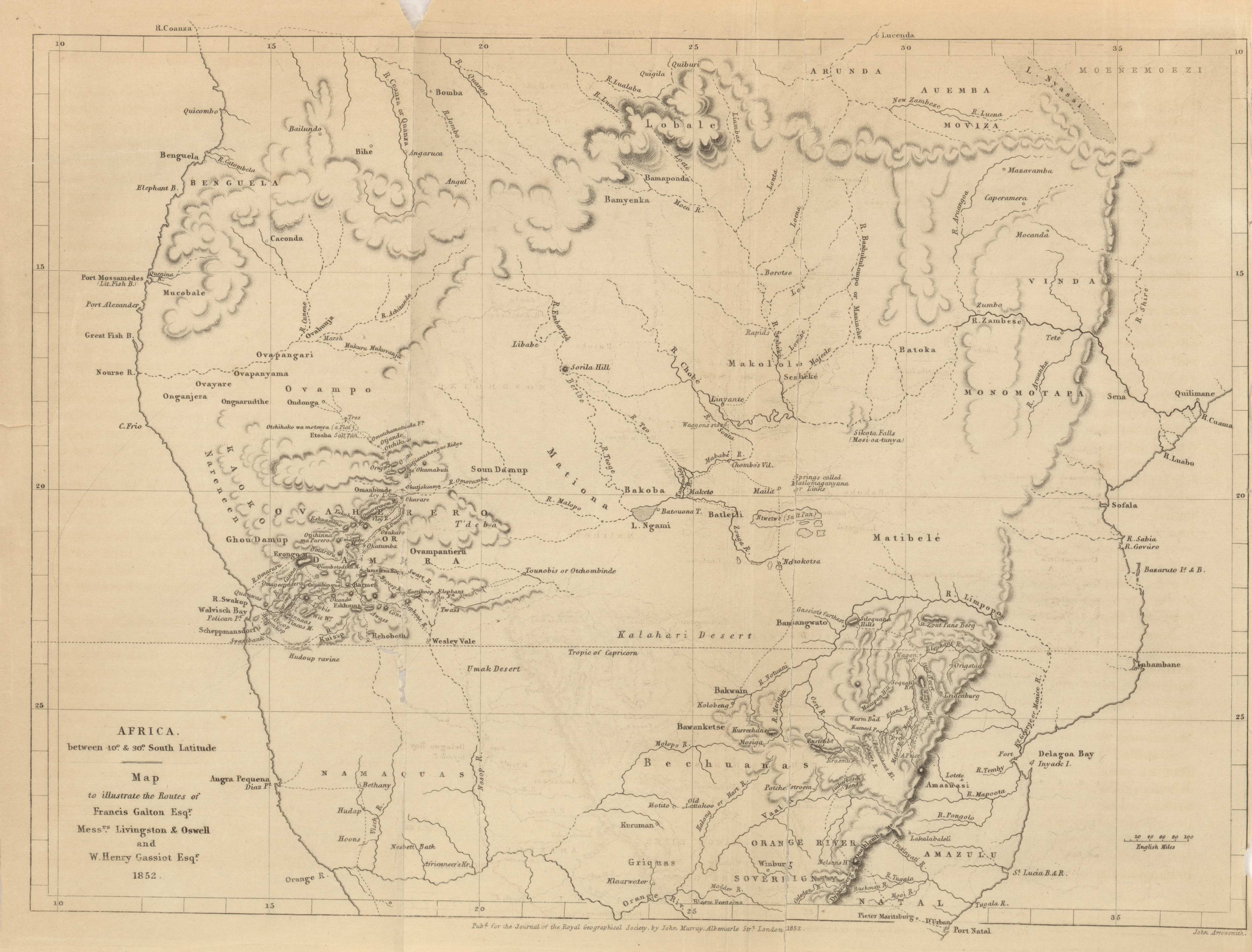 Map Of Western Australia 26th Parallel.Maps From The Journal Of The Royal Geographical Society Of London