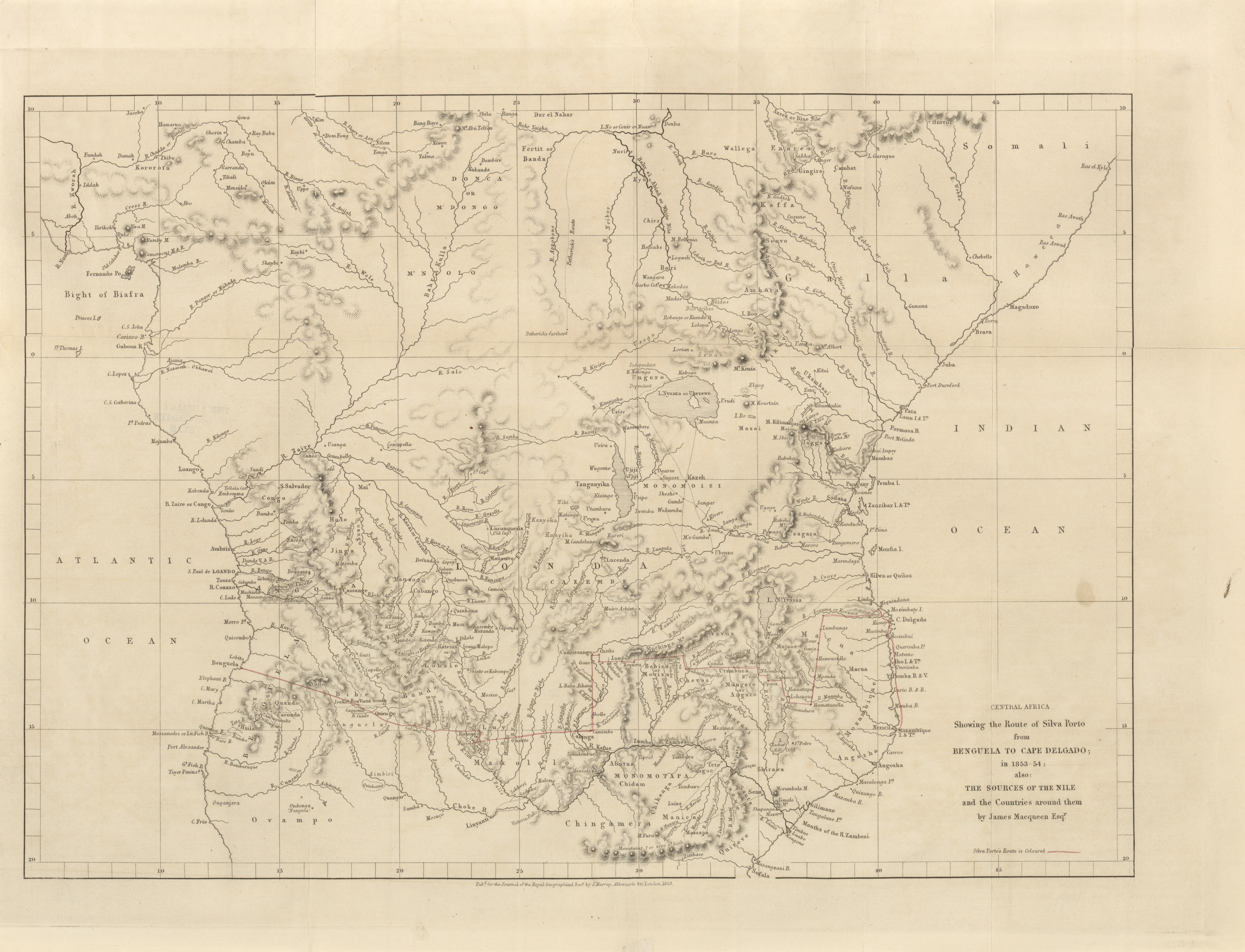 Maps From The Journal Of The Royal Geographical Society Of London - Map of the us in 1853