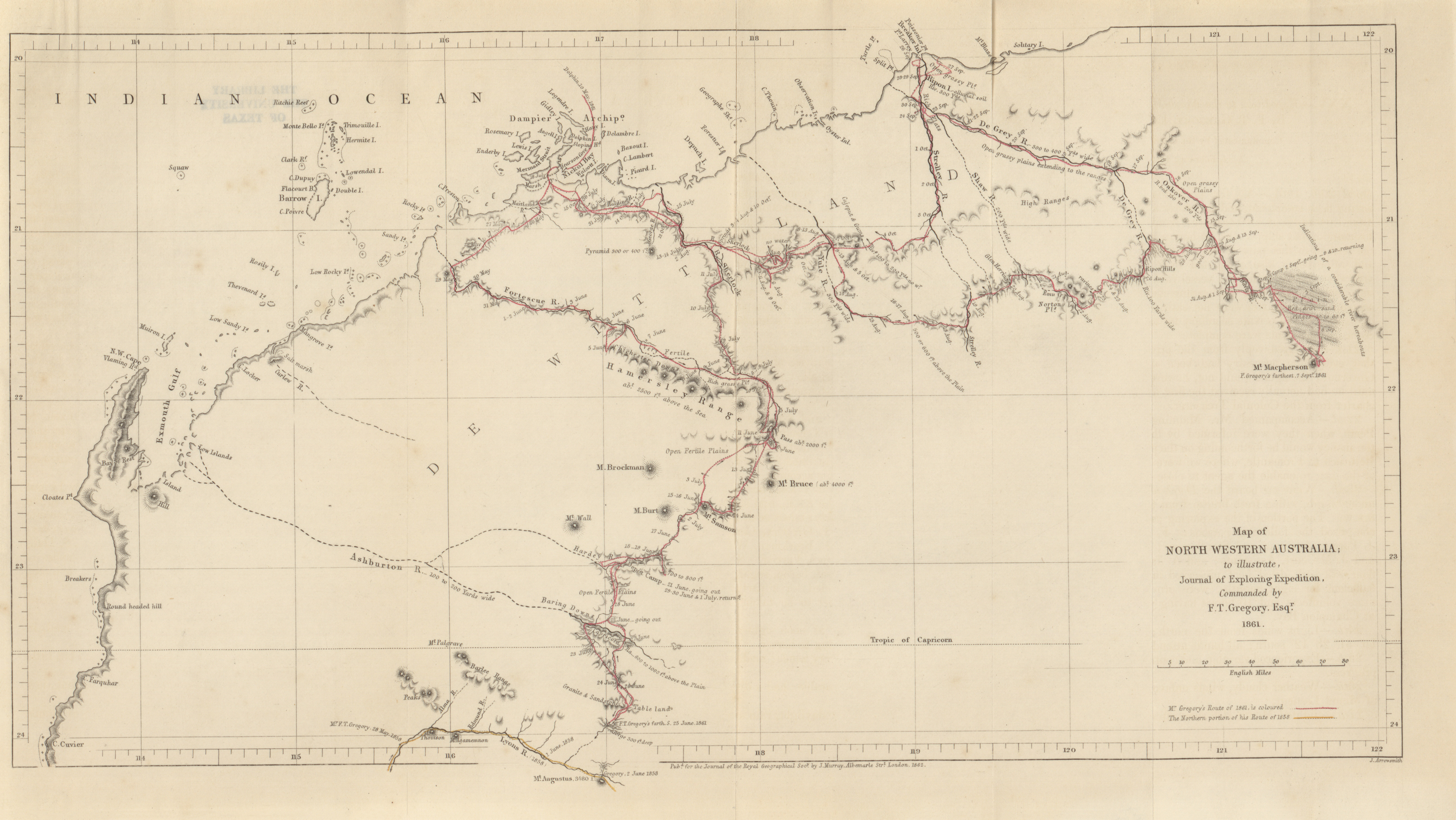 North Western Australia To Ilrate Journal Of Exploring Expedition F T Gregory